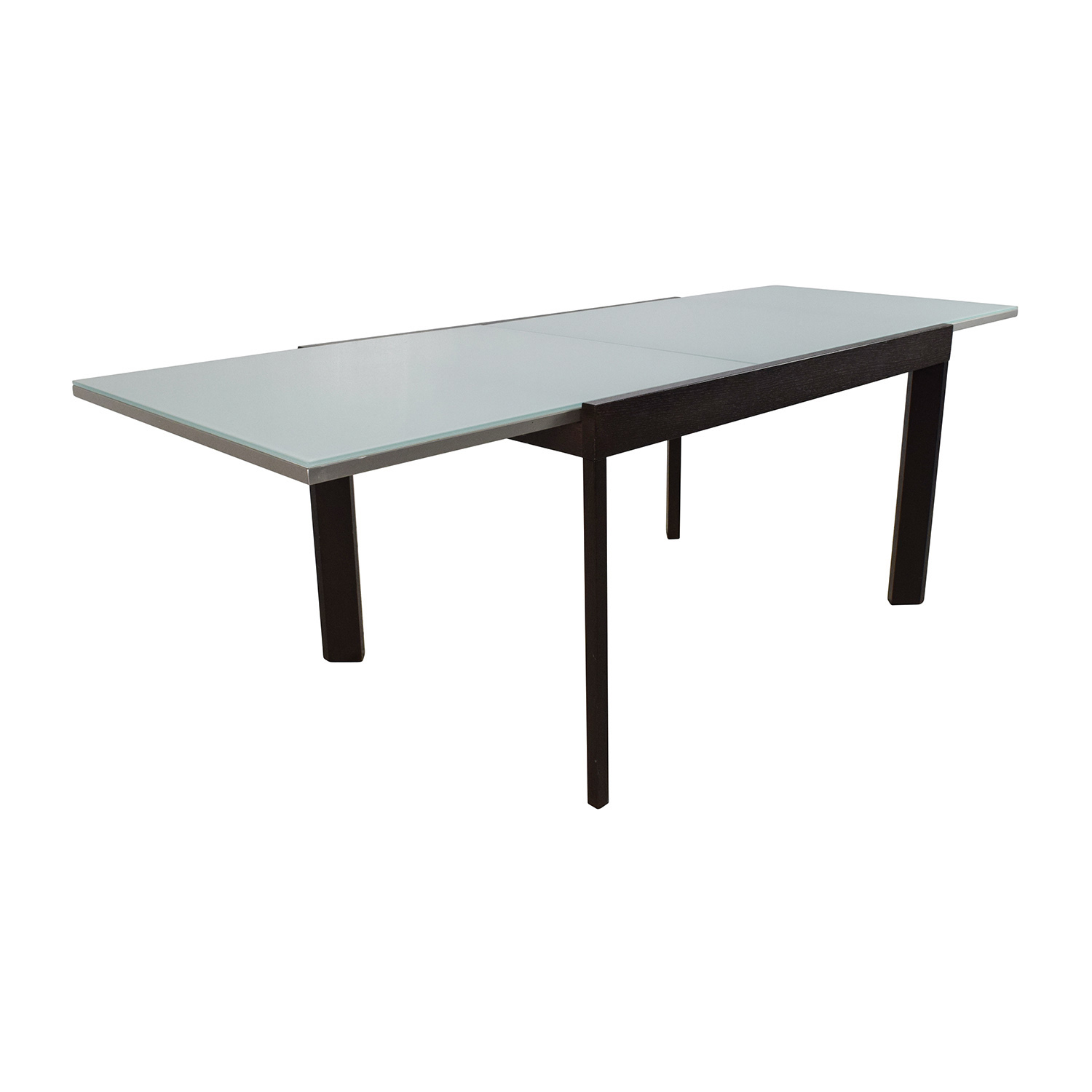 75 off calligaris calligaris extendable glass dining for Extendable glass dining table