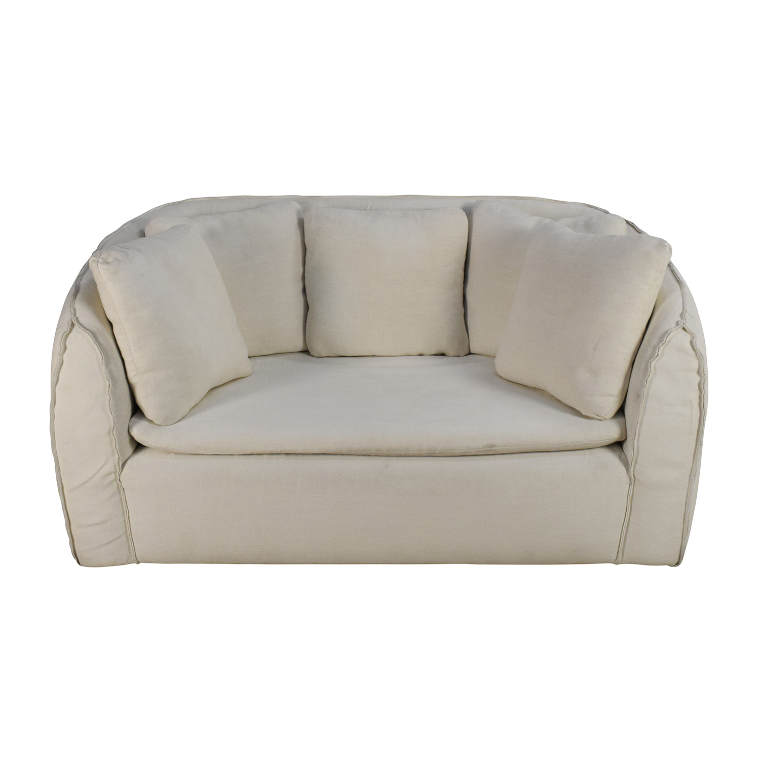Environment Furniture Environment Furniture Pacifica White Linen Couch coupon