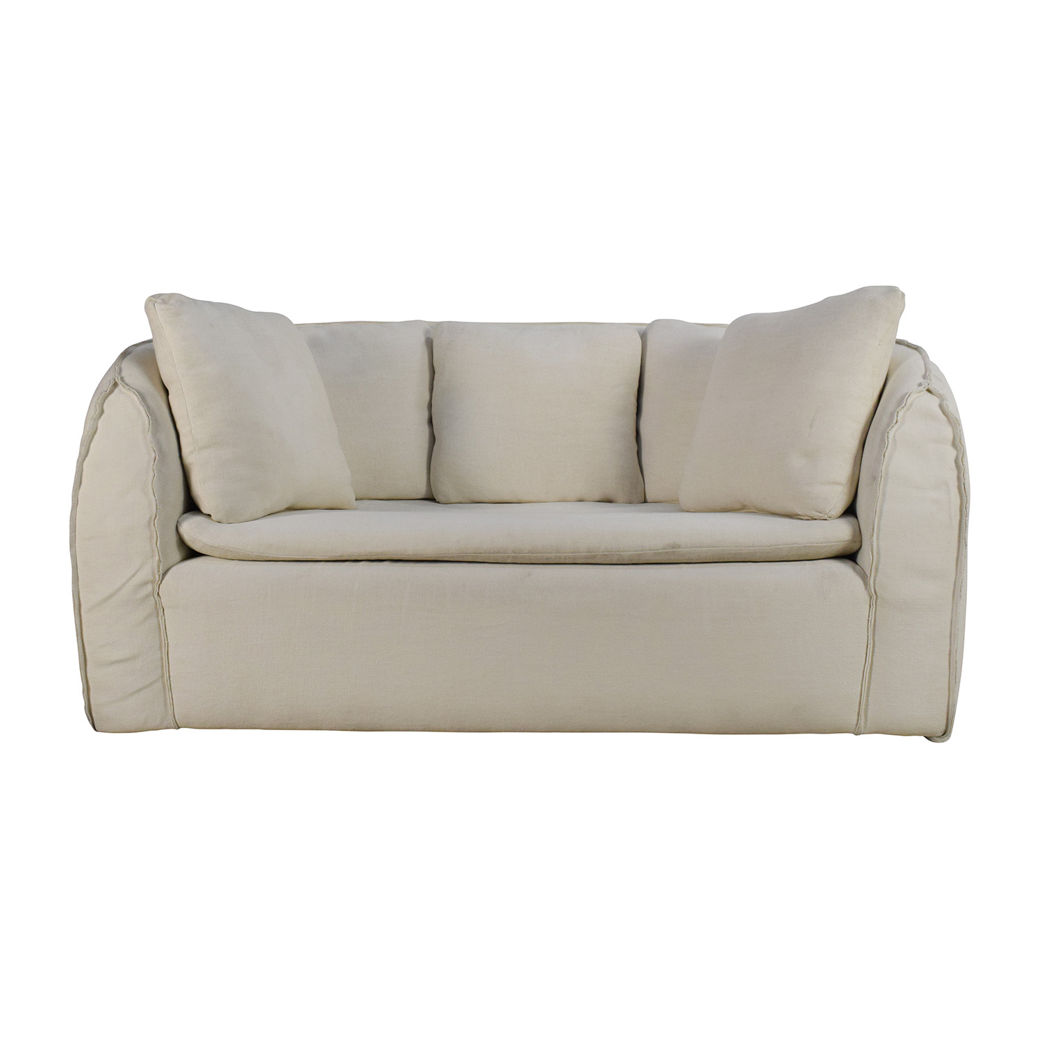 90 Off Environment Furniture Pacifica White Linen Couch Sofas
