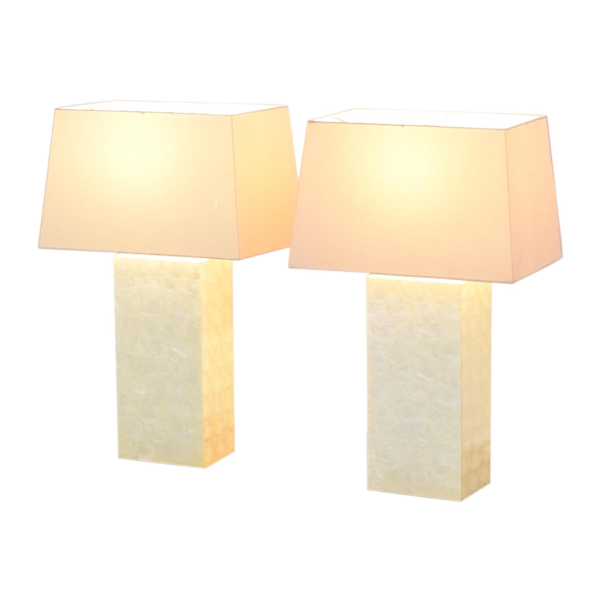 West Elm West Elm Capiz Block Table Lamps on sale