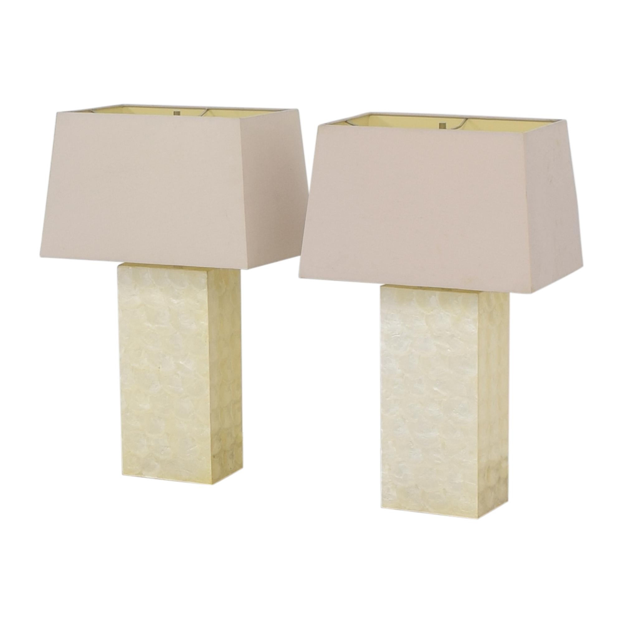 West Elm West Elm Capiz Block Table Lamps nj