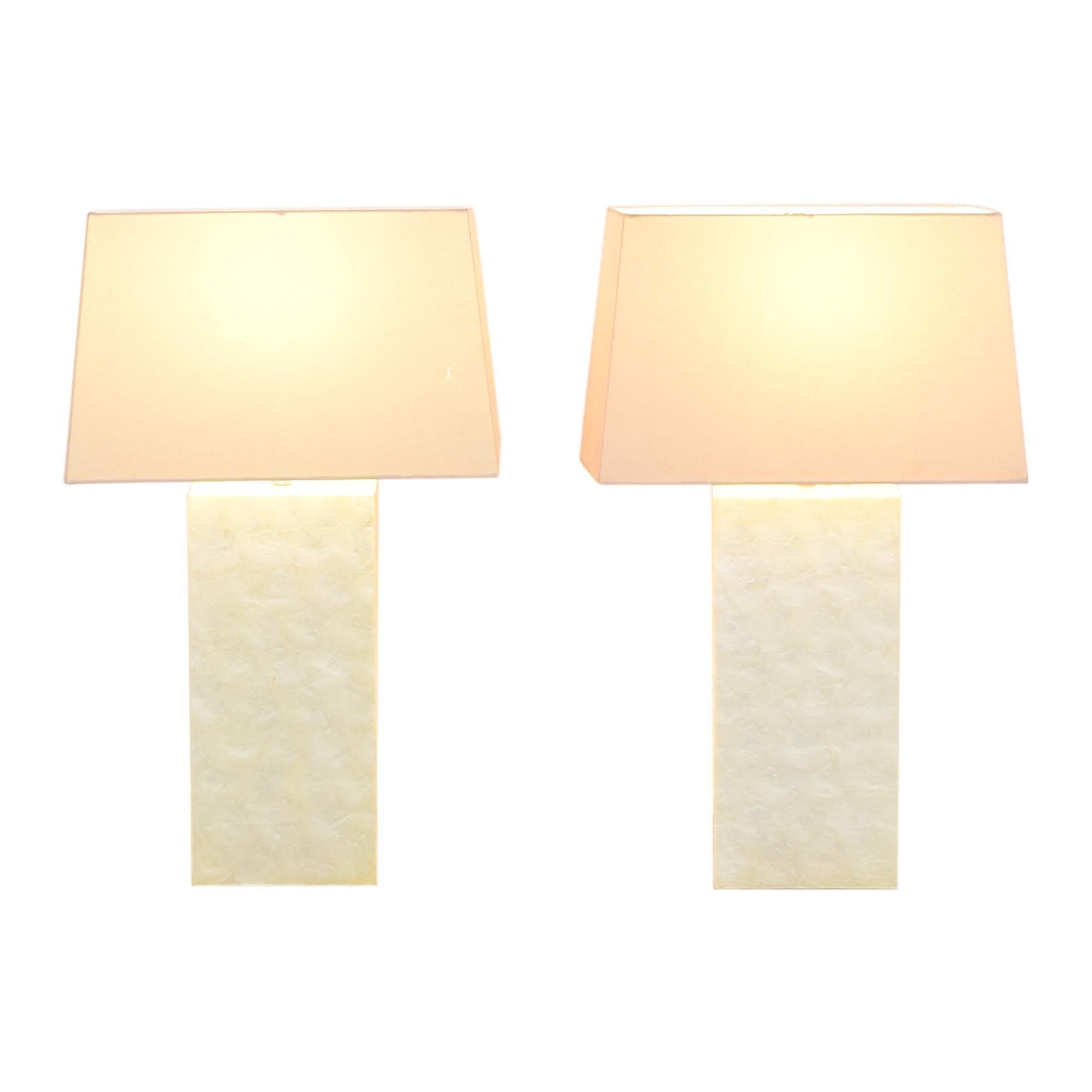 shop West Elm Capiz Block Table Lamps West Elm Lamps