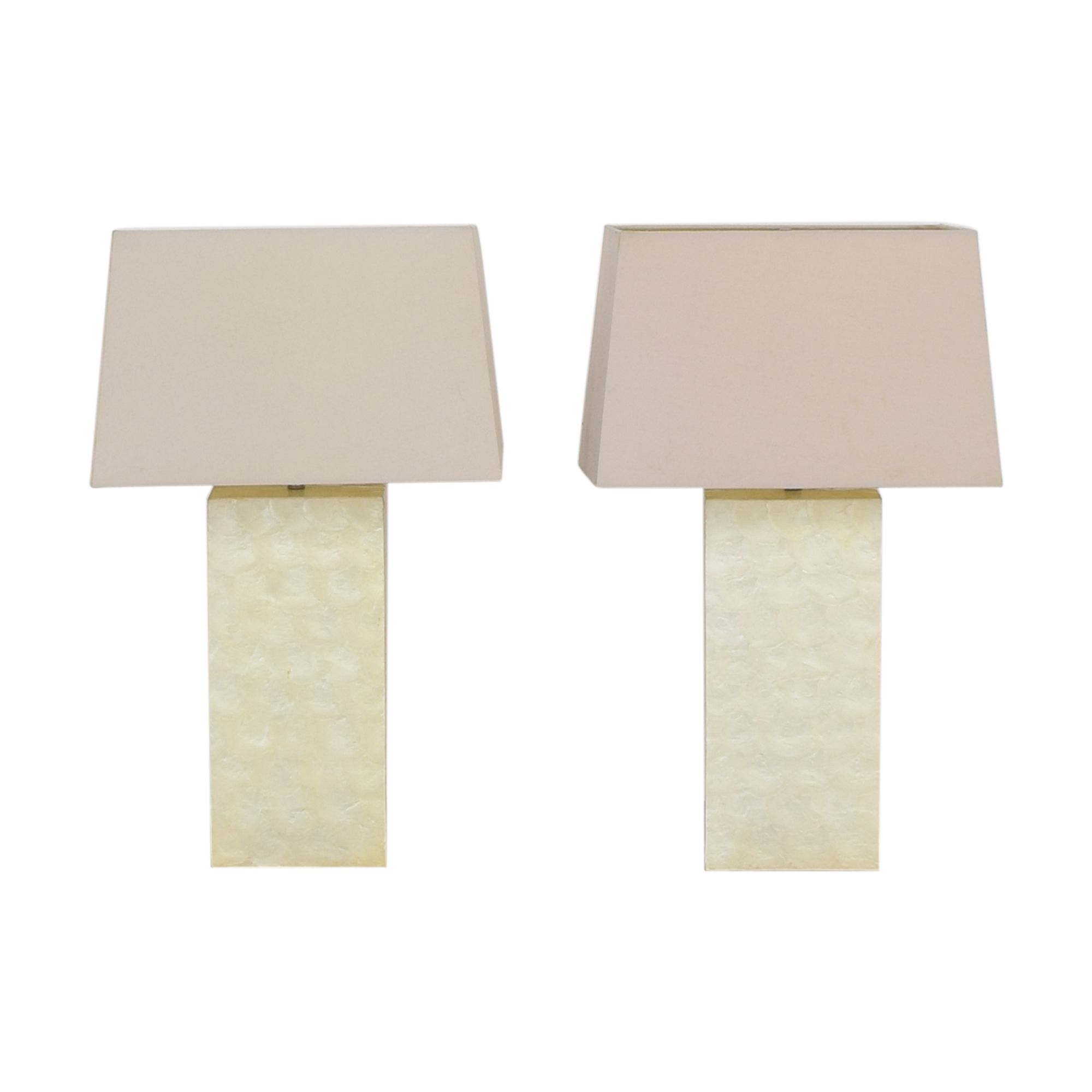 buy West Elm Capiz Block Table Lamps West Elm