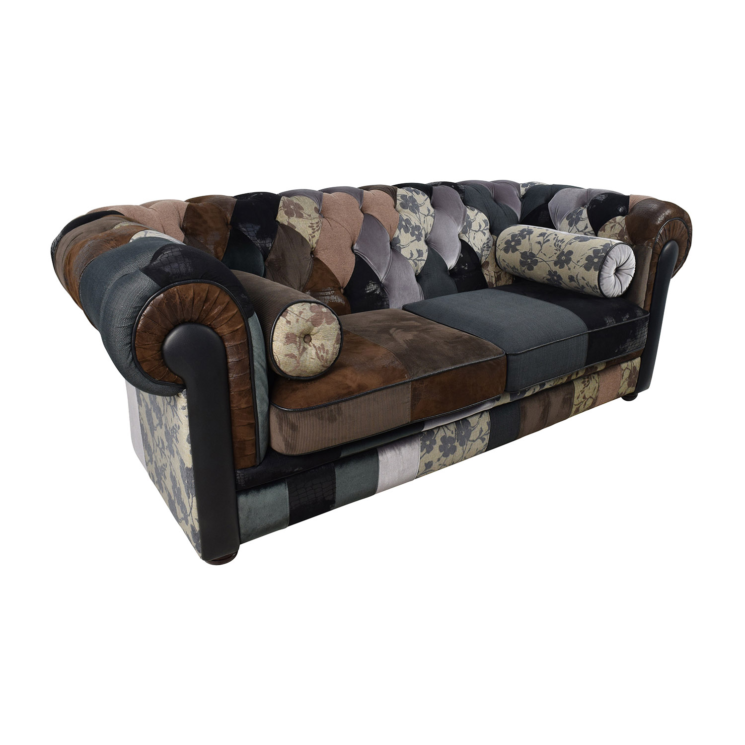 chesterfield patchwork sofa home the honoroak. Black Bedroom Furniture Sets. Home Design Ideas