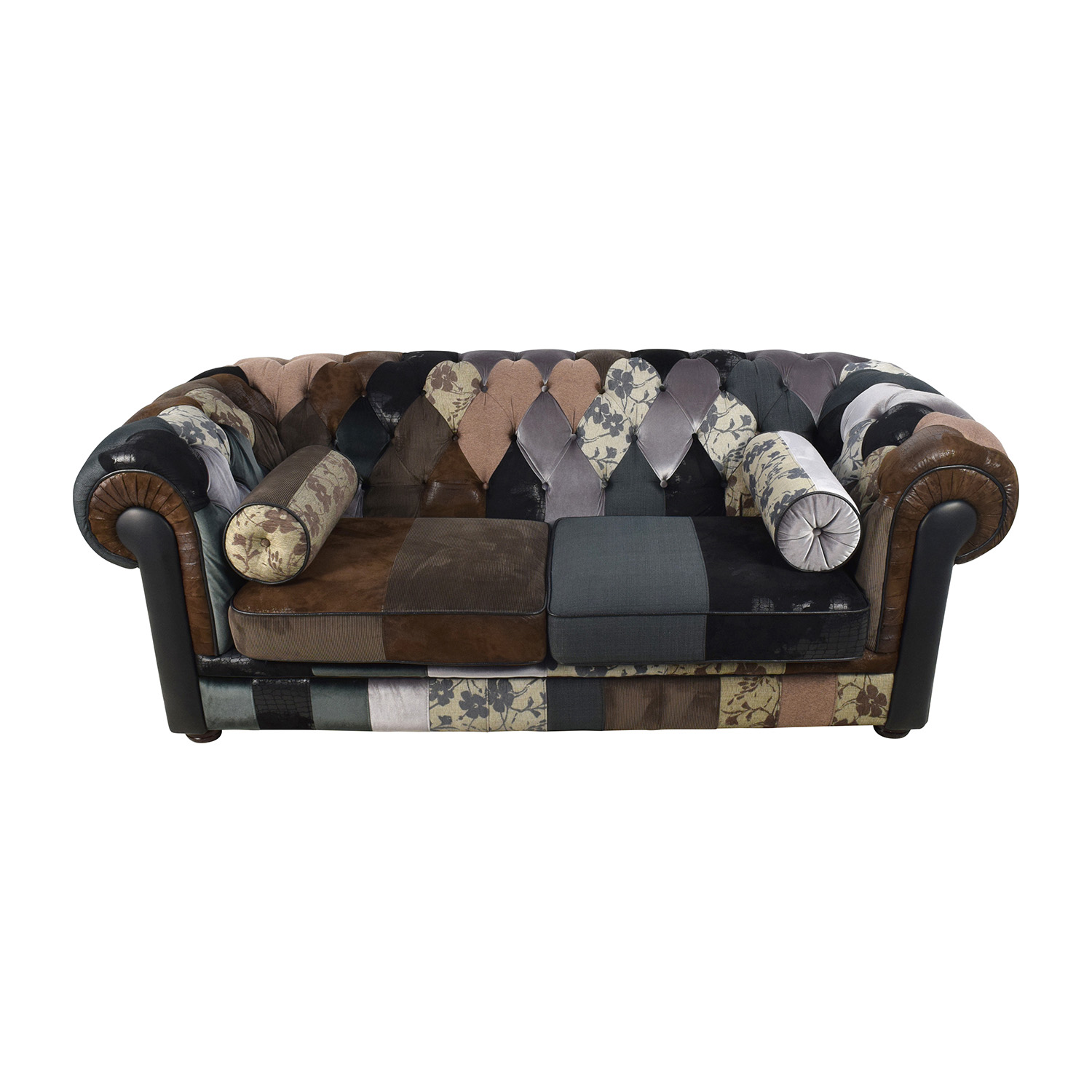 shop France & Son Egan Tufted Chesterfield Patchwork Sofa France and Son