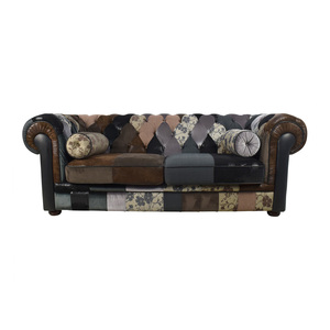 France & Son Egan Tufted Chesterfield Patchwork Sofa France and Son