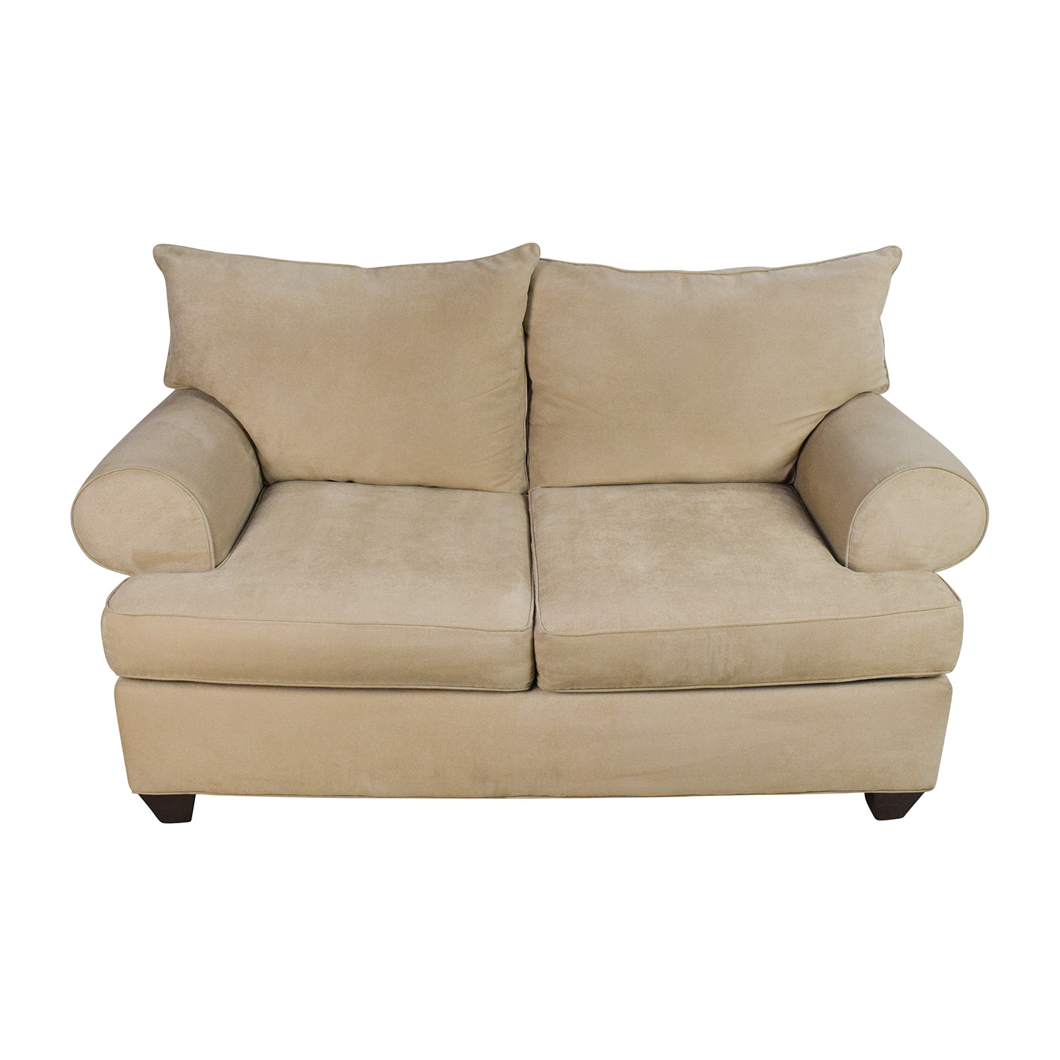 Raymour and Flanigan Raymour & Flanigan Beige Microfiber Loveseat dimensions
