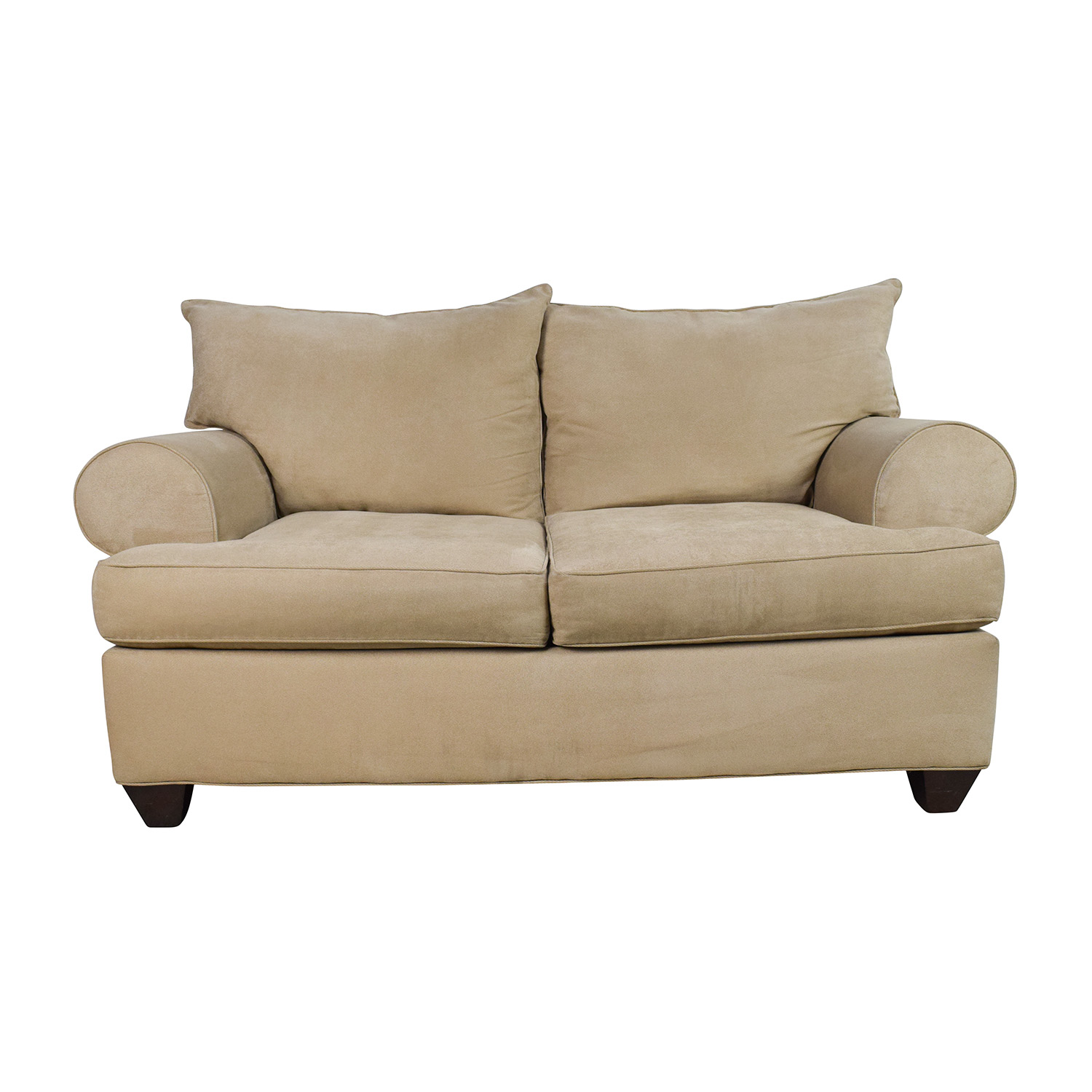 Raymour and Flanigan Raymour & Flanigan Beige Microfiber Loveseat discount