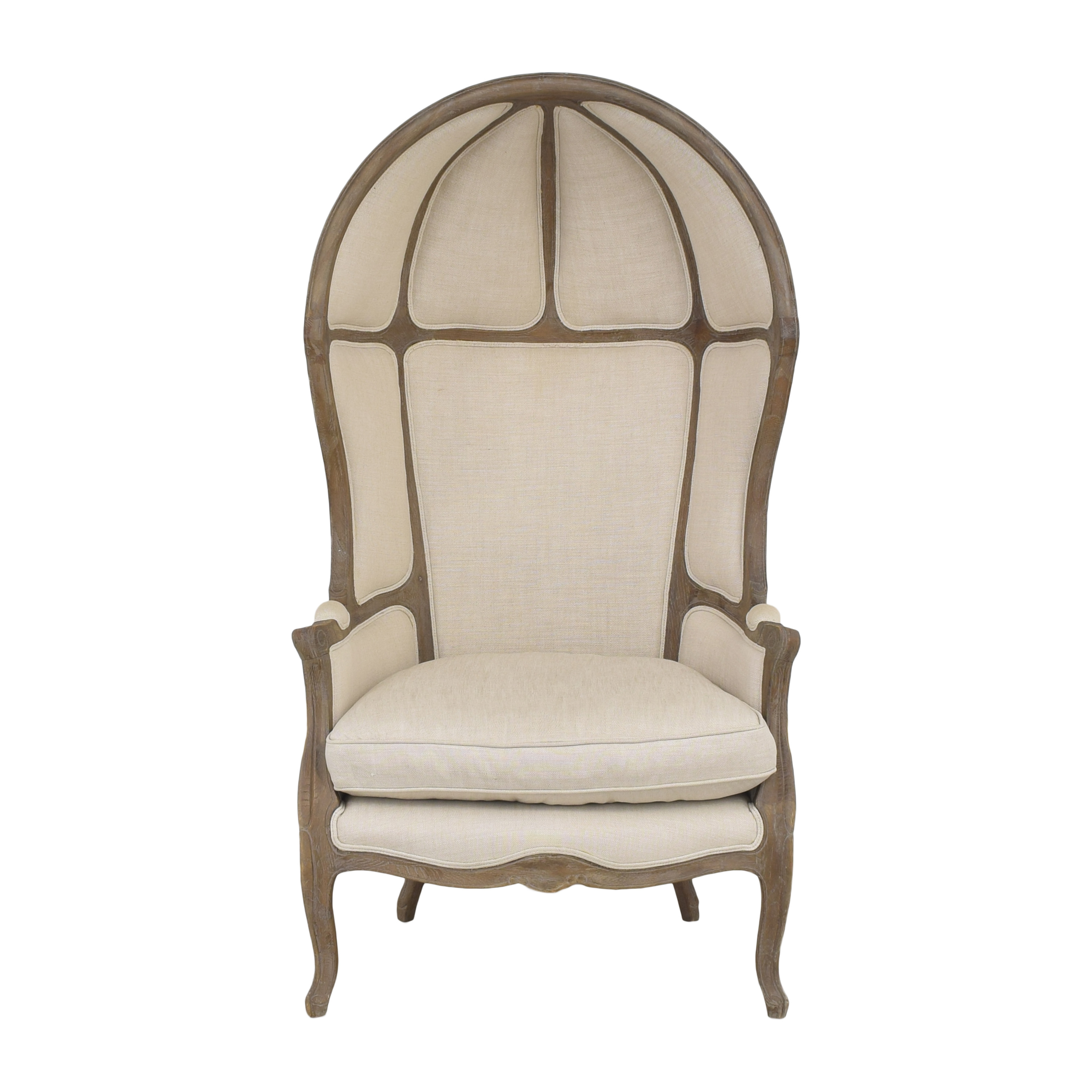 Restoration Hardware Restoration Hardware Versailles Burlap-Backed Chair used