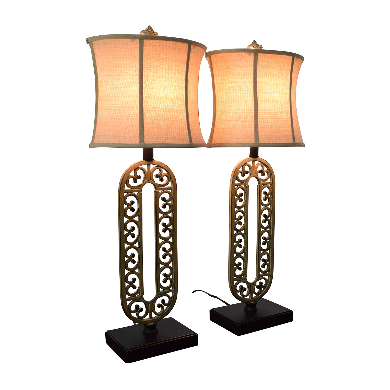 Wayfair Table Lamps >> 45 Off Wayfair Wayfair Scroll Design Brass Base Table Lamps Decor