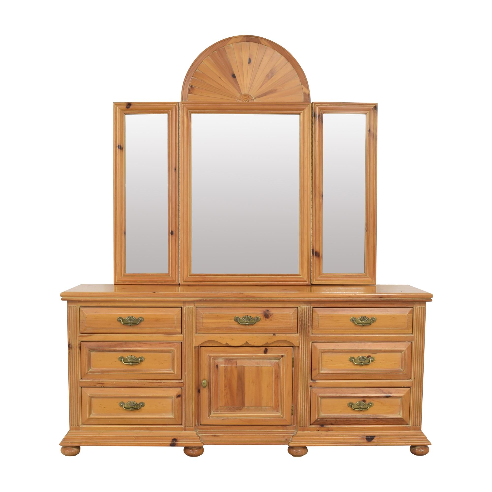 Oskar Huber Vanity Dresser with Trifold Mirror