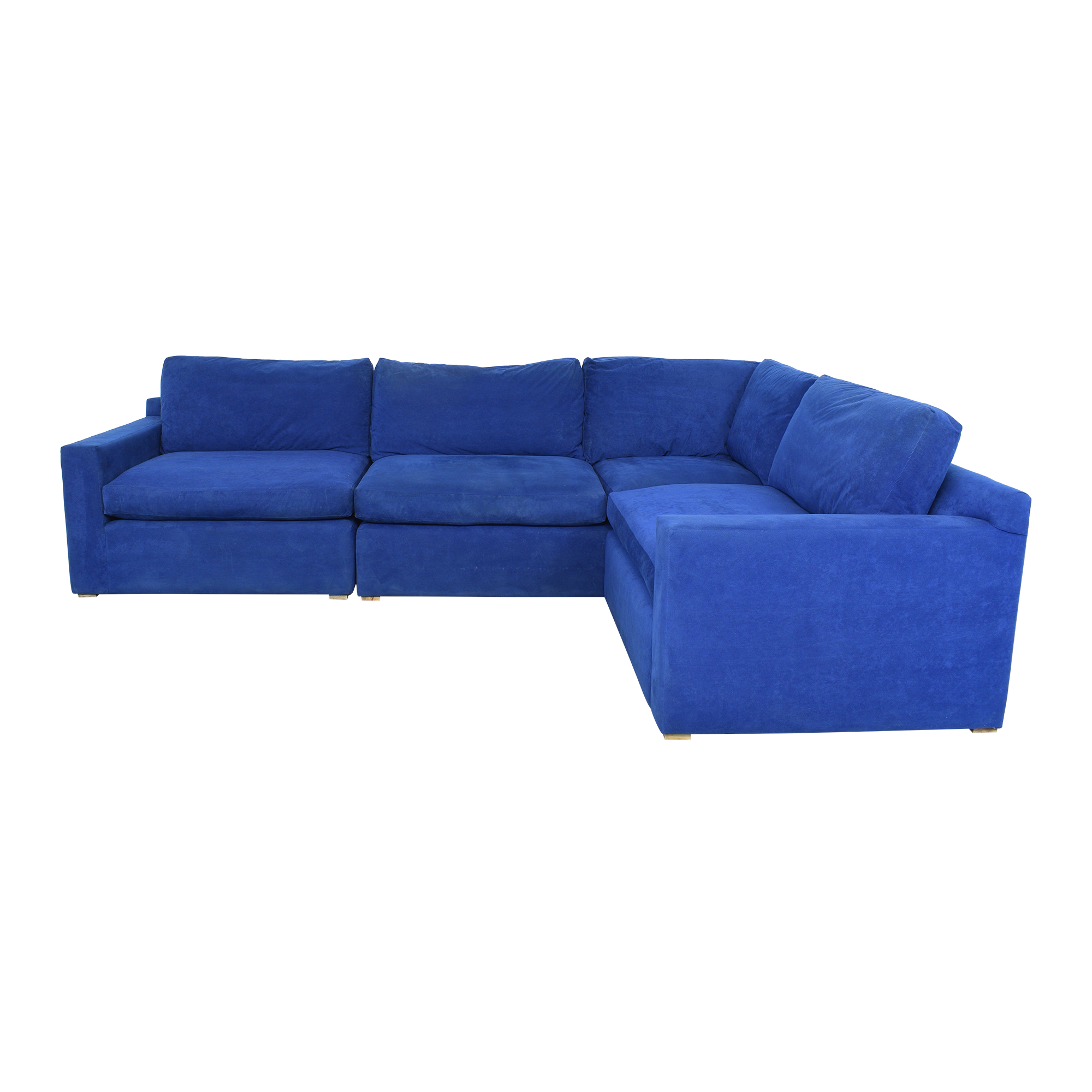 Custom Track Arm L-Shaped Sectional Sofa ma