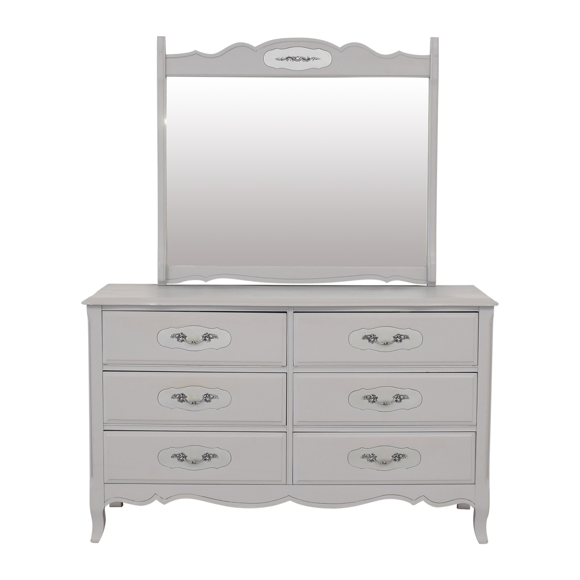 Antique Style Dresser and Mirror ma