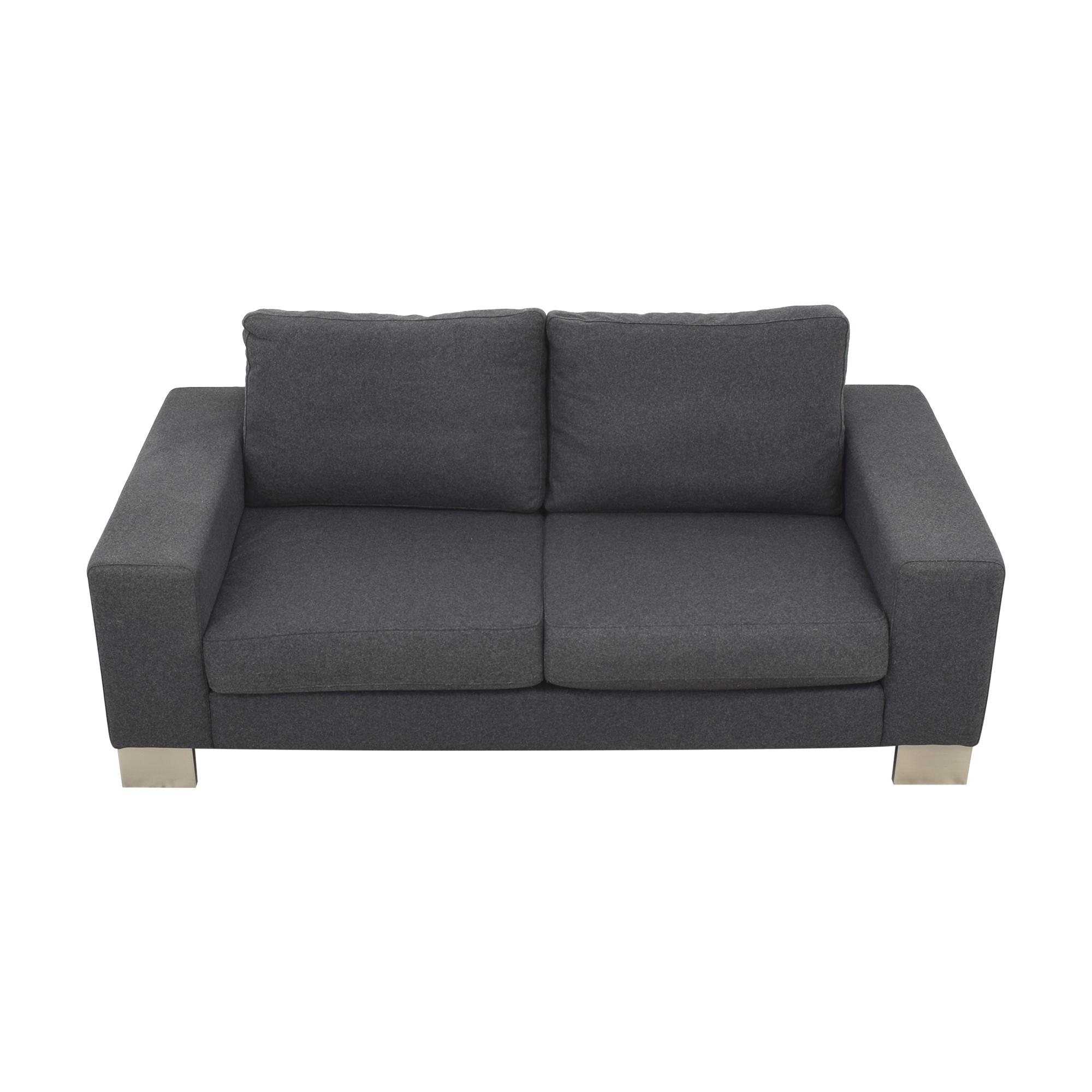 BoConcept Bo Concept Indivi Couch dark blue and silver