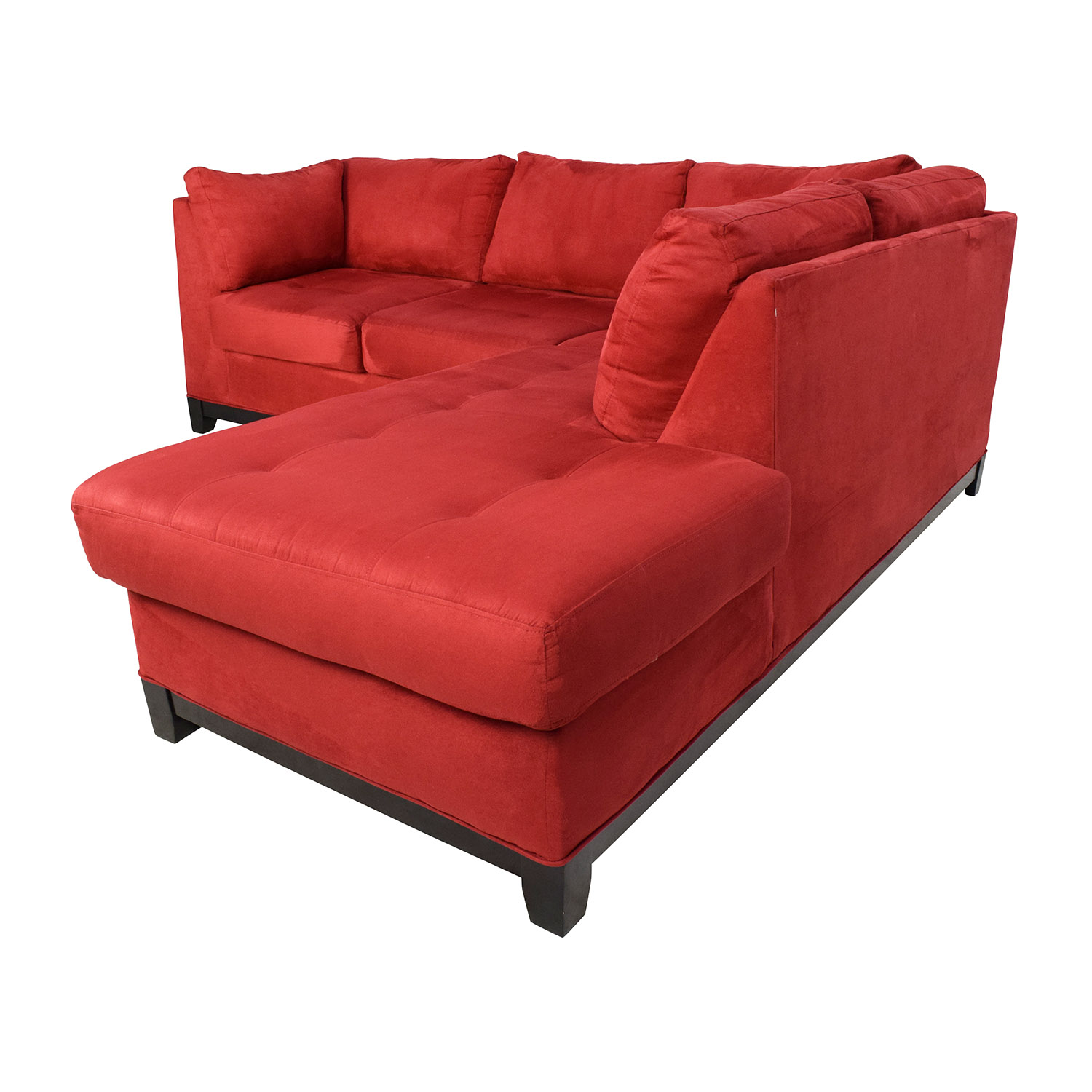 67 Off Raymour And Flanigan Raymour Flanigan Zella Red Sectional Sofas