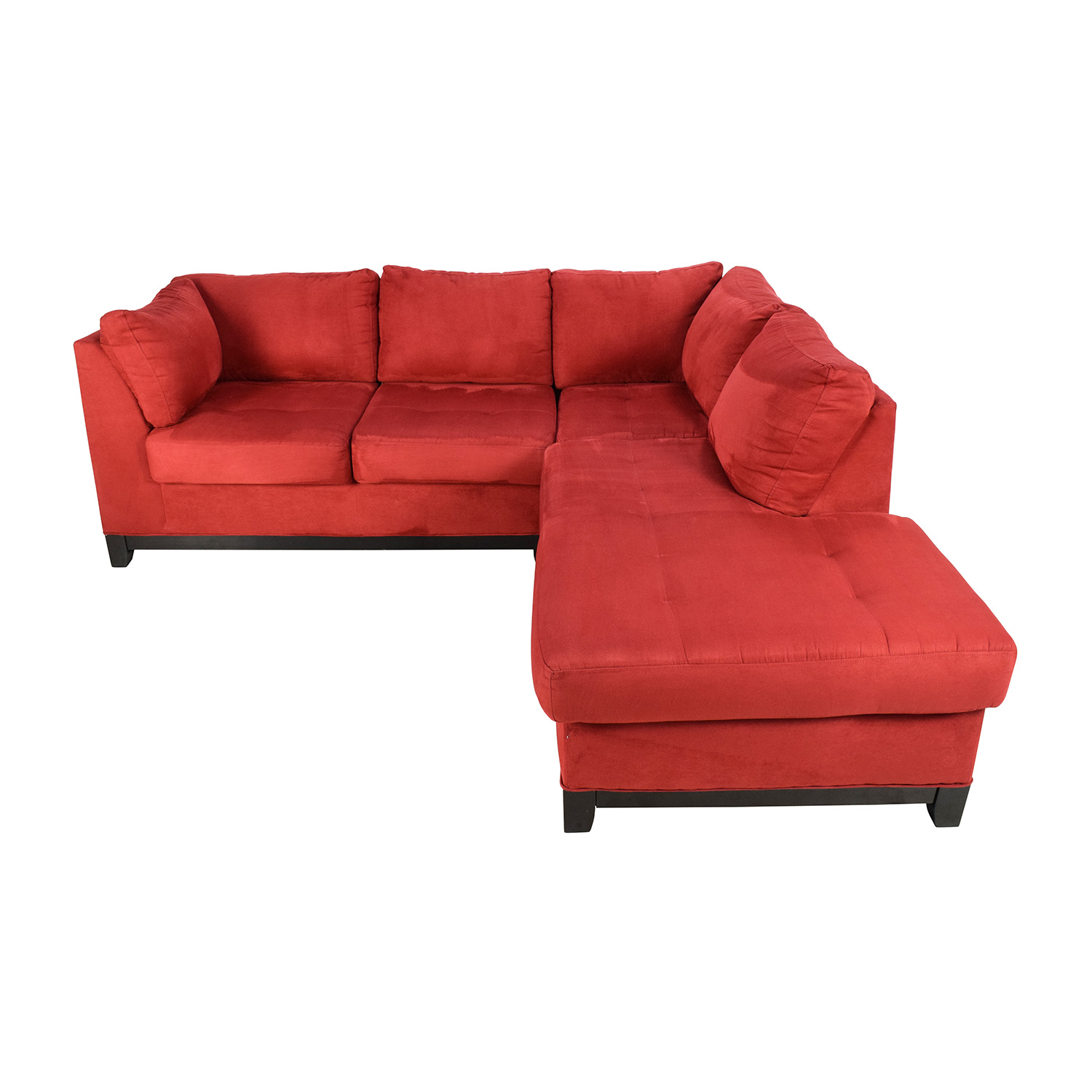 shop Raymour & Flanigan Zella Red Sectional Raymour and Flanigan