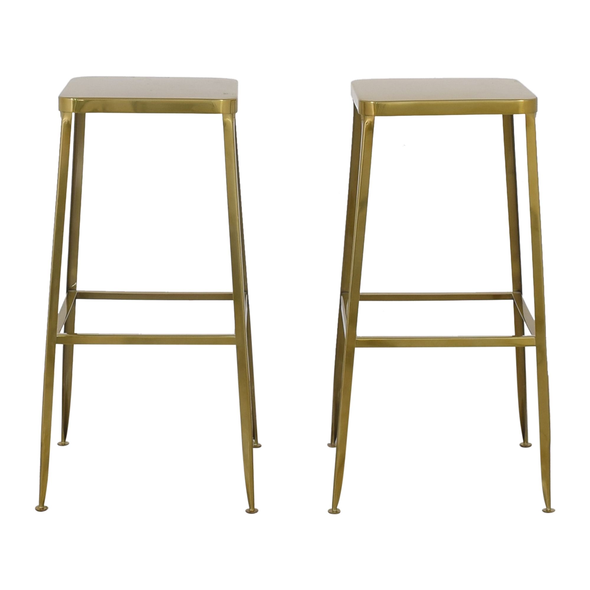 shop CB2 CB2 Flint Gold Bar Stools online