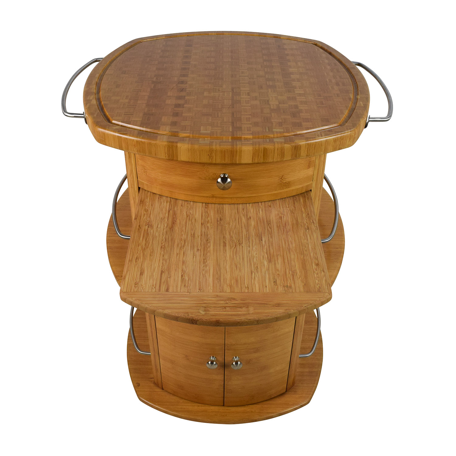 85 off unknown oval wood butcher block island tables