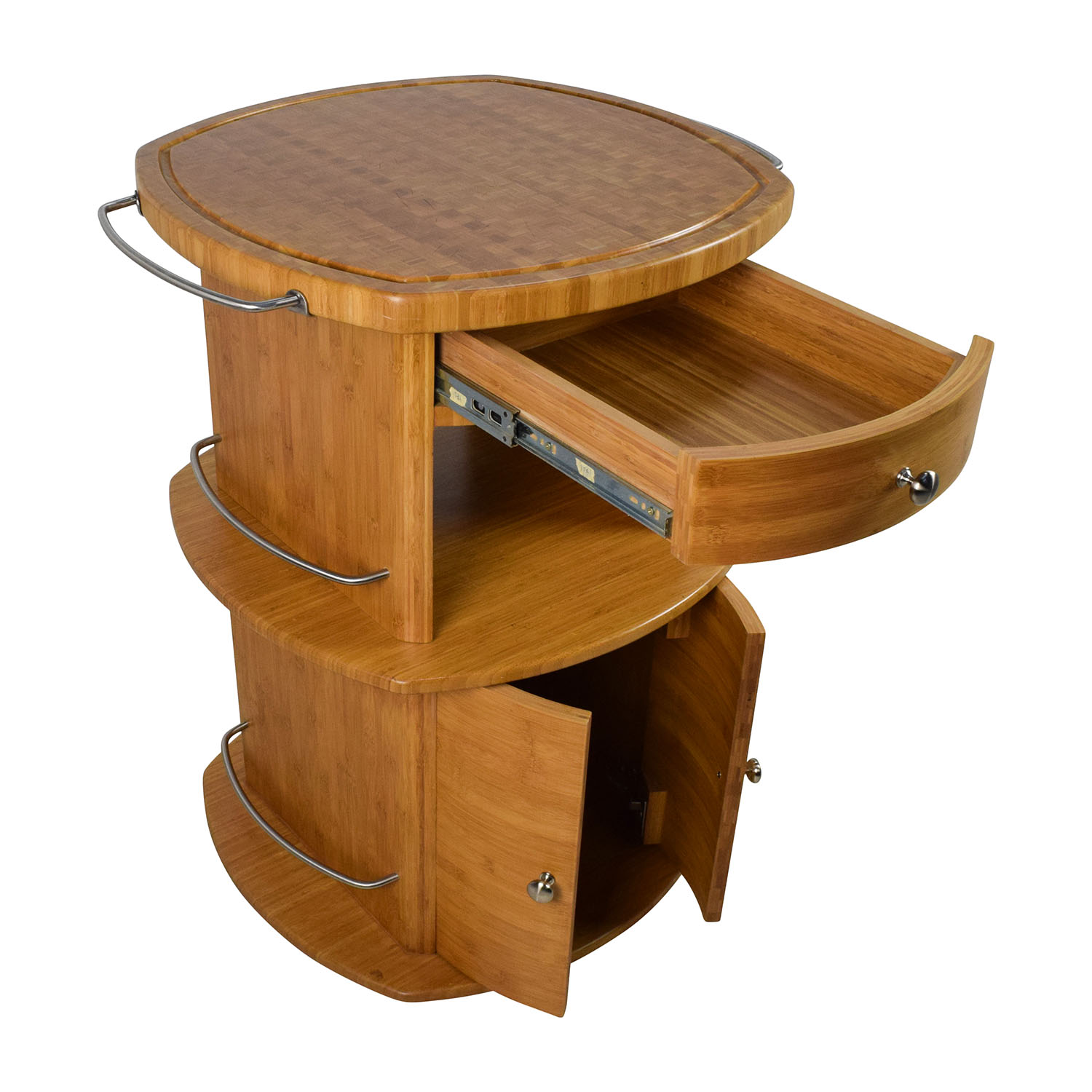 88 off unknown oval wood butcher block island tables