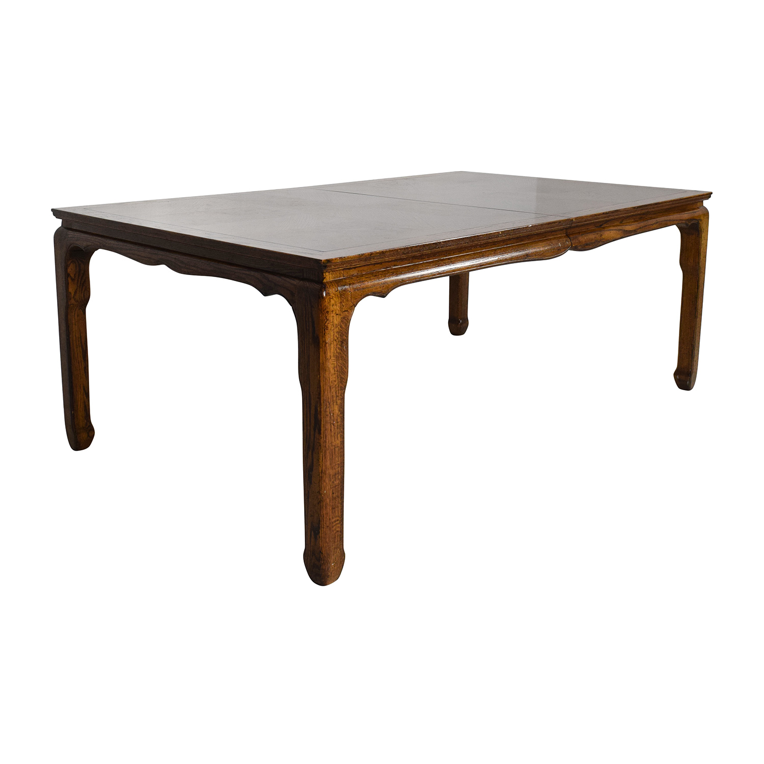 90 off antique style brown wood dining room table tables for Antique dining room tables
