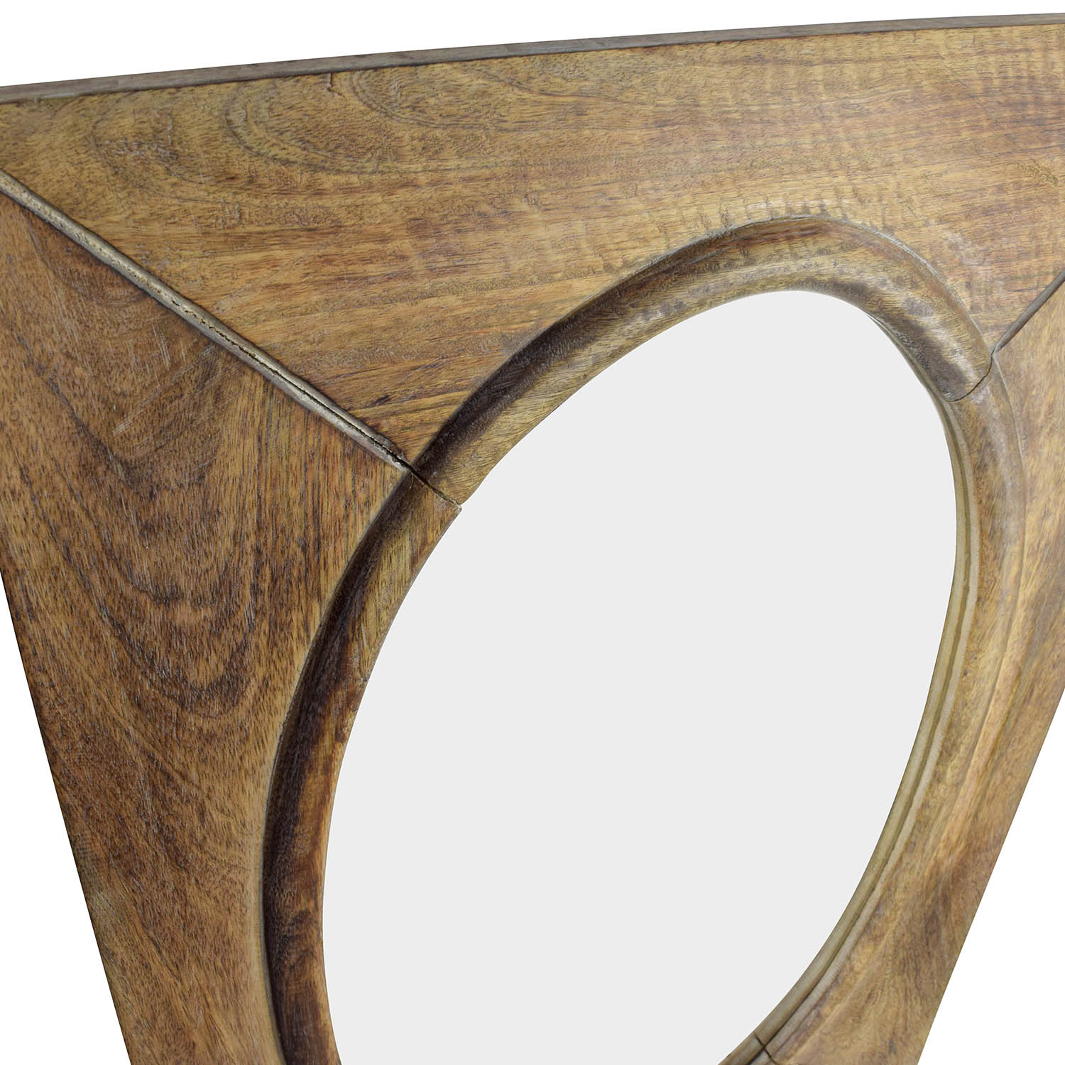 Shop World Market Rustic Wood Shandi Oval Mirror Mirrors