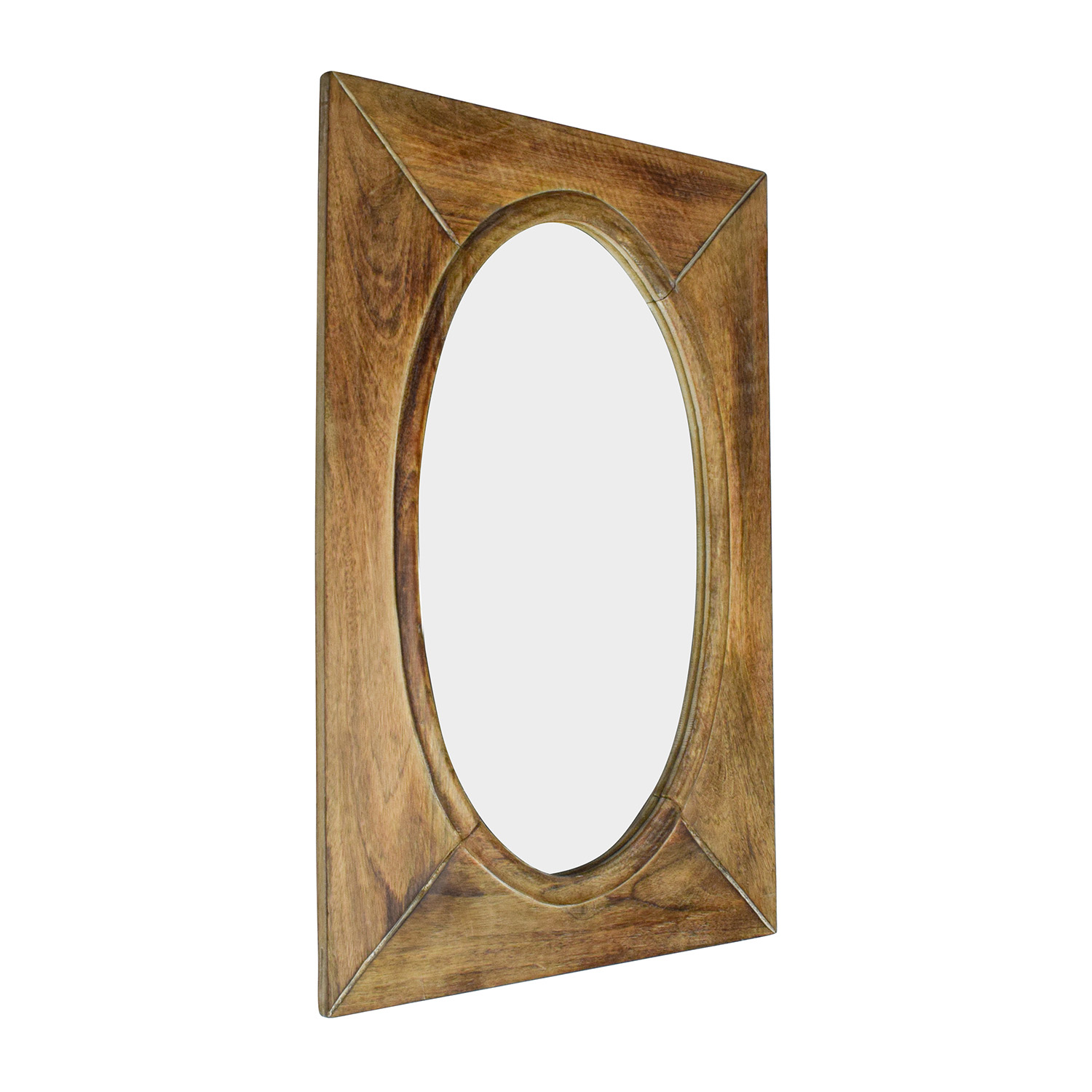 World Market Rustic Wood Shandi Oval Mirror Mirrors