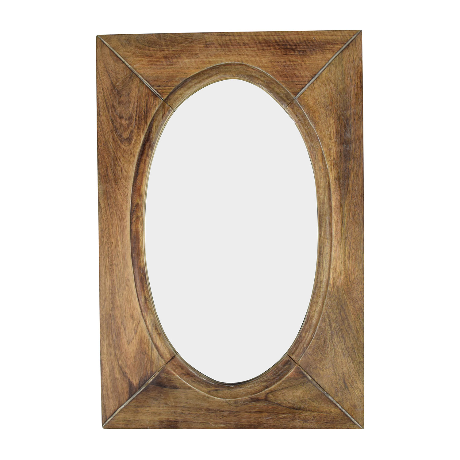 World Market Rustic Wood Shandi Oval Mirror / Mirrors