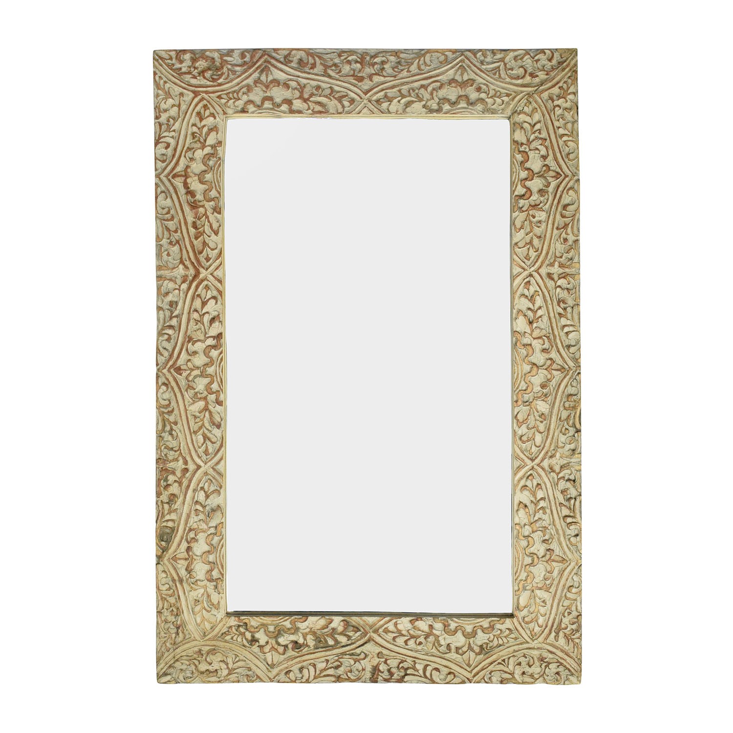 shop Wayfair Fleur Gray Carved Mirror Wayfair Mirrors