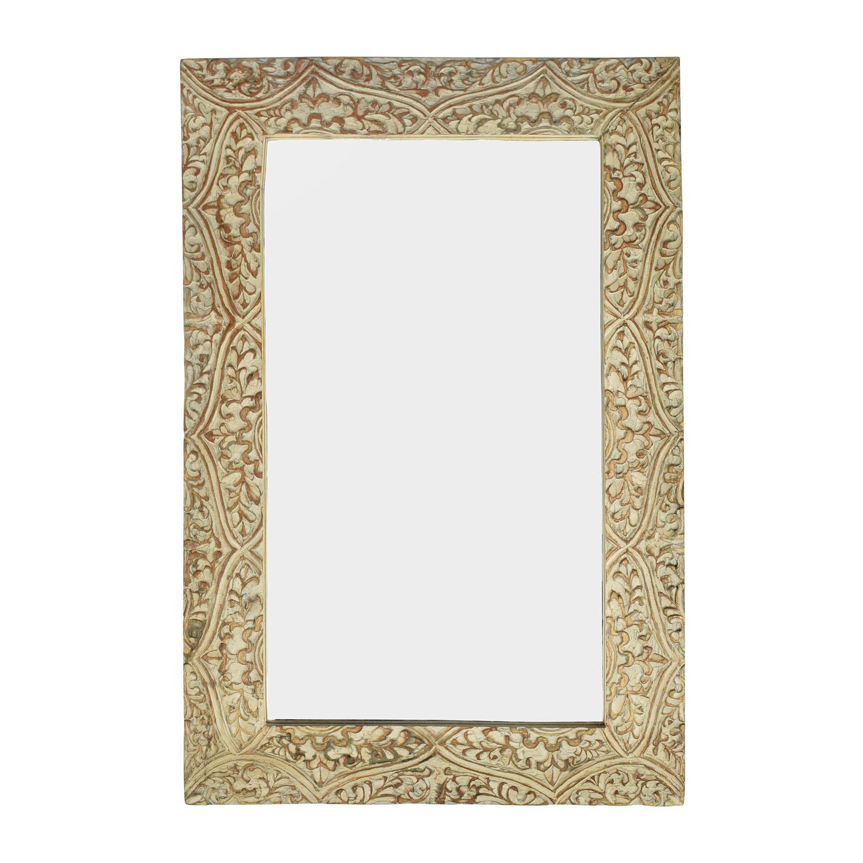 Wayfair Fleur Gray Carved Mirror sale