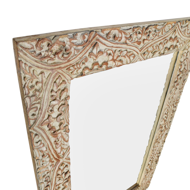 61 Off Wayfair Wayfair Fleur Gray Carved Mirror Decor