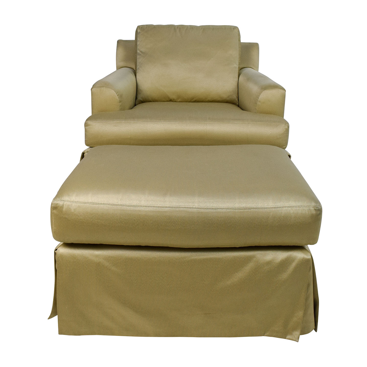 Abc Carpet And Home Gold Sofa Chair With Matching Ottoman Online