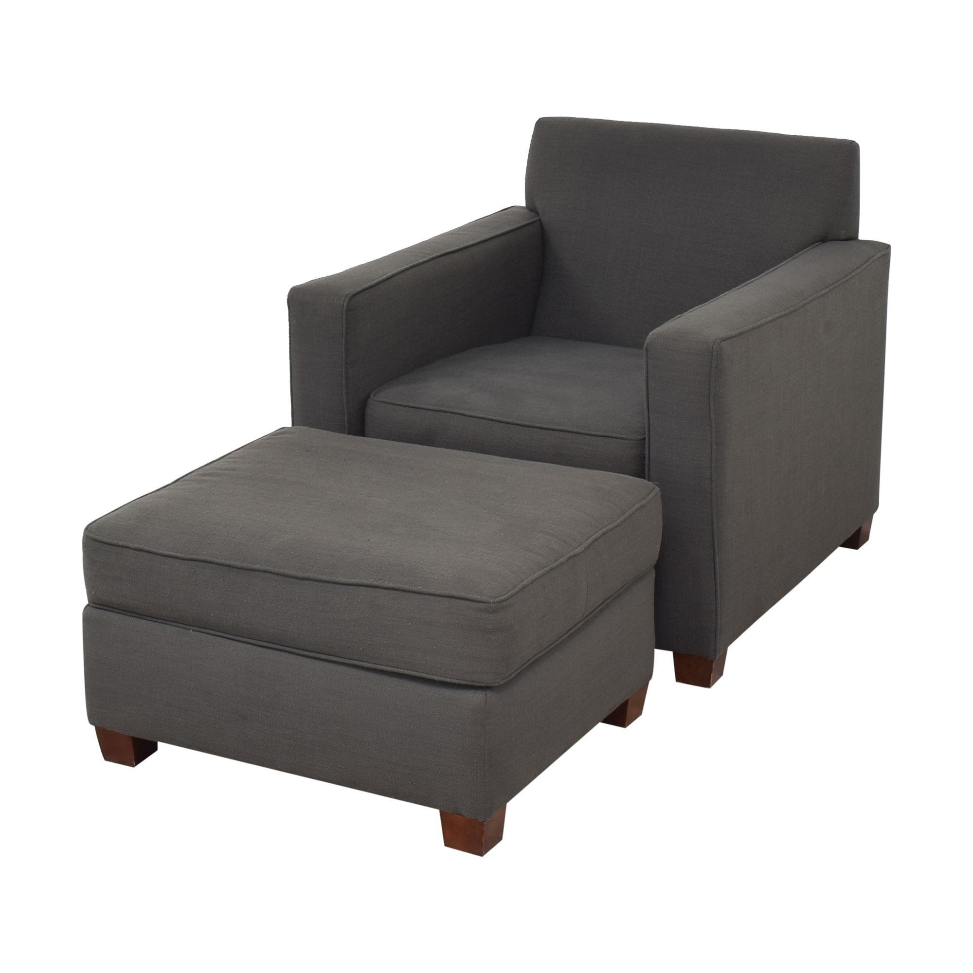 West Elm Henry Chair and Ottoman / Accent Chairs
