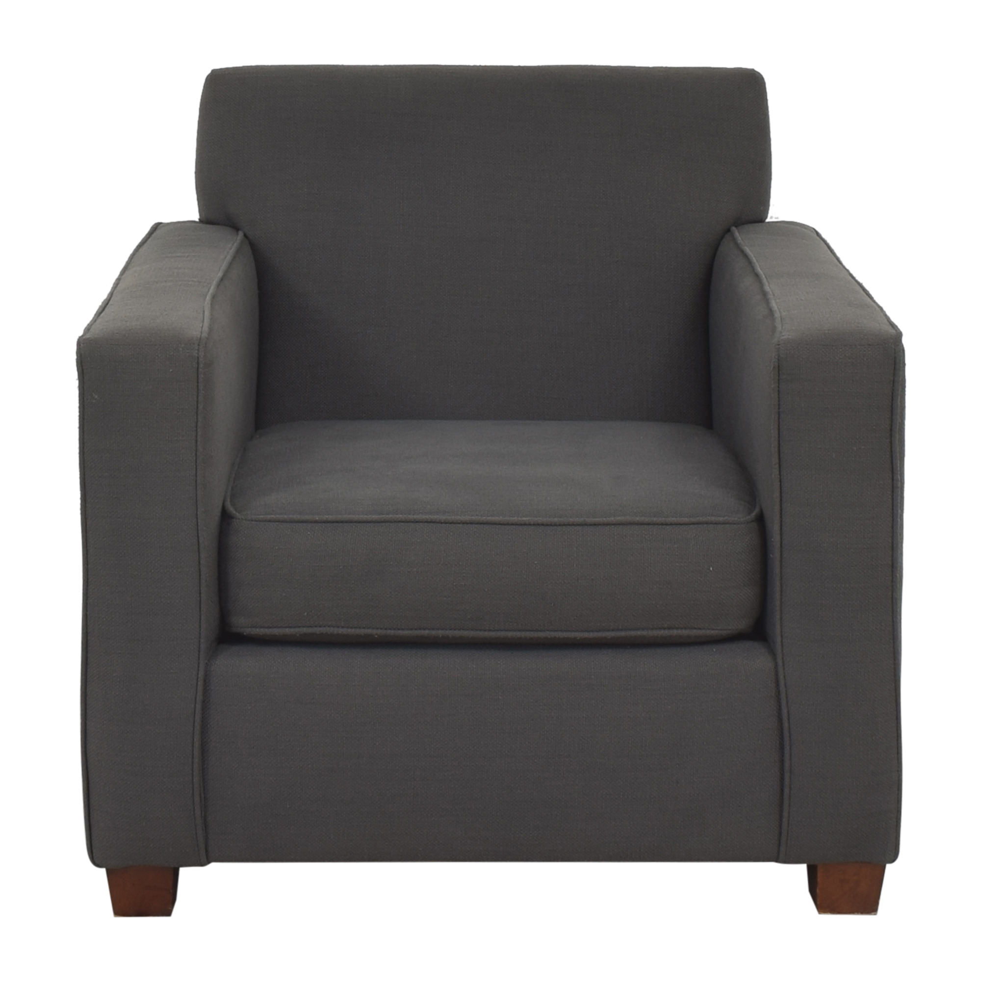 West Elm West Elm Henry Chair and Ottoman dimensions