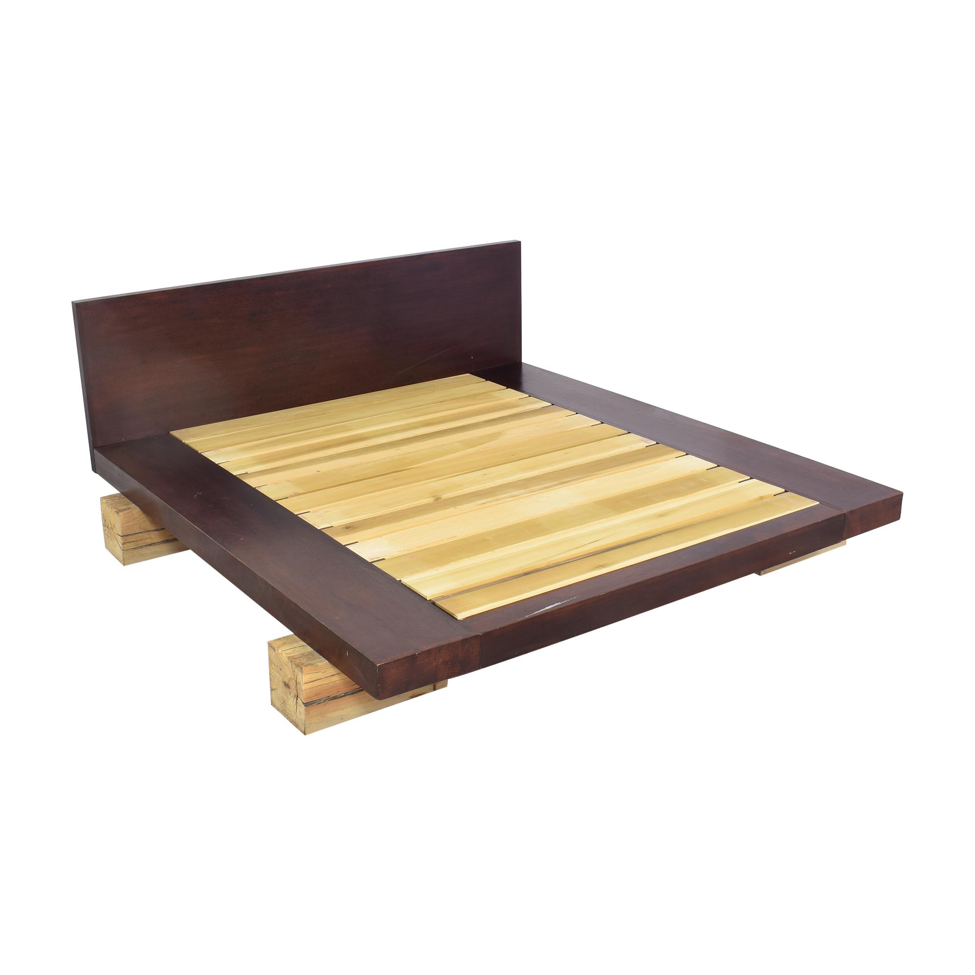 ABC Carpet & Home ABC Carpet & Home Railroad Tie Platform Bed Beds