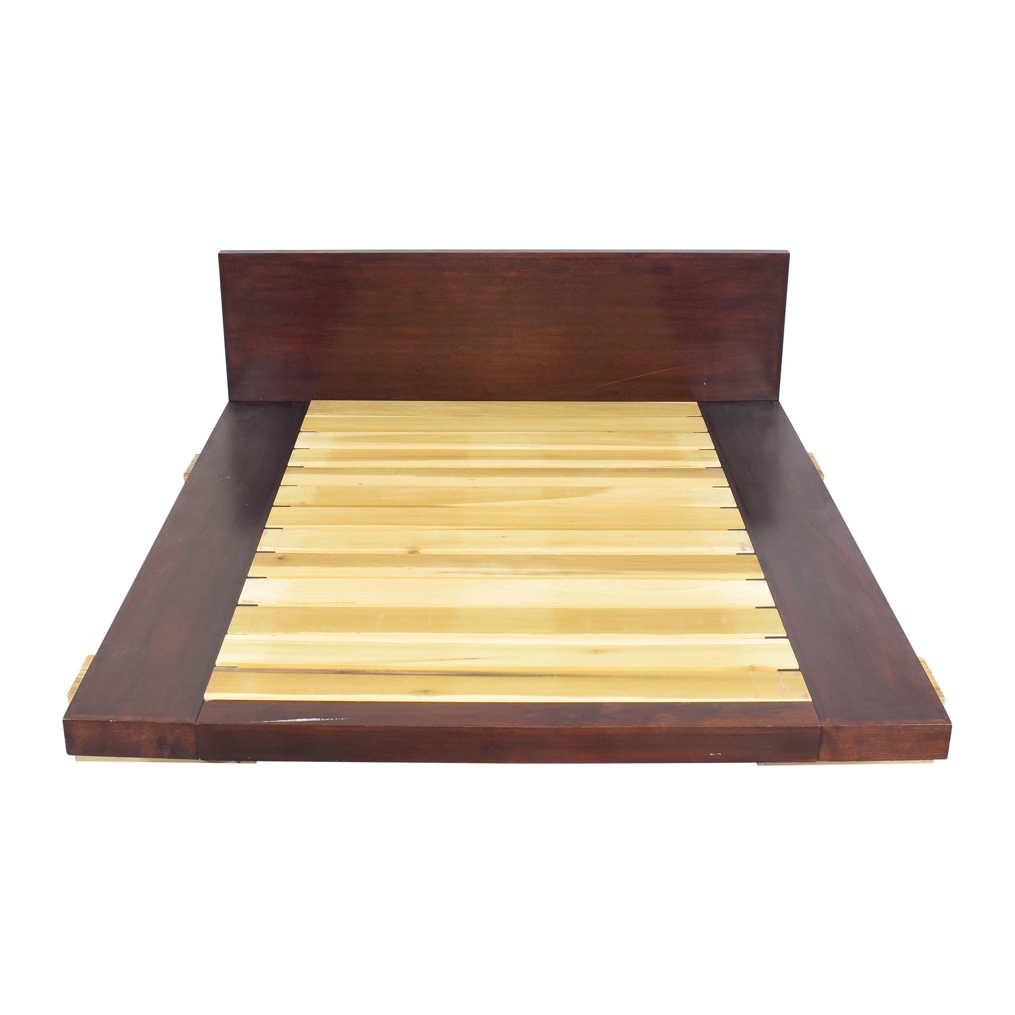 shop ABC Carpet & Home Railroad Tie Platform Bed ABC Carpet & Home Bed Frames
