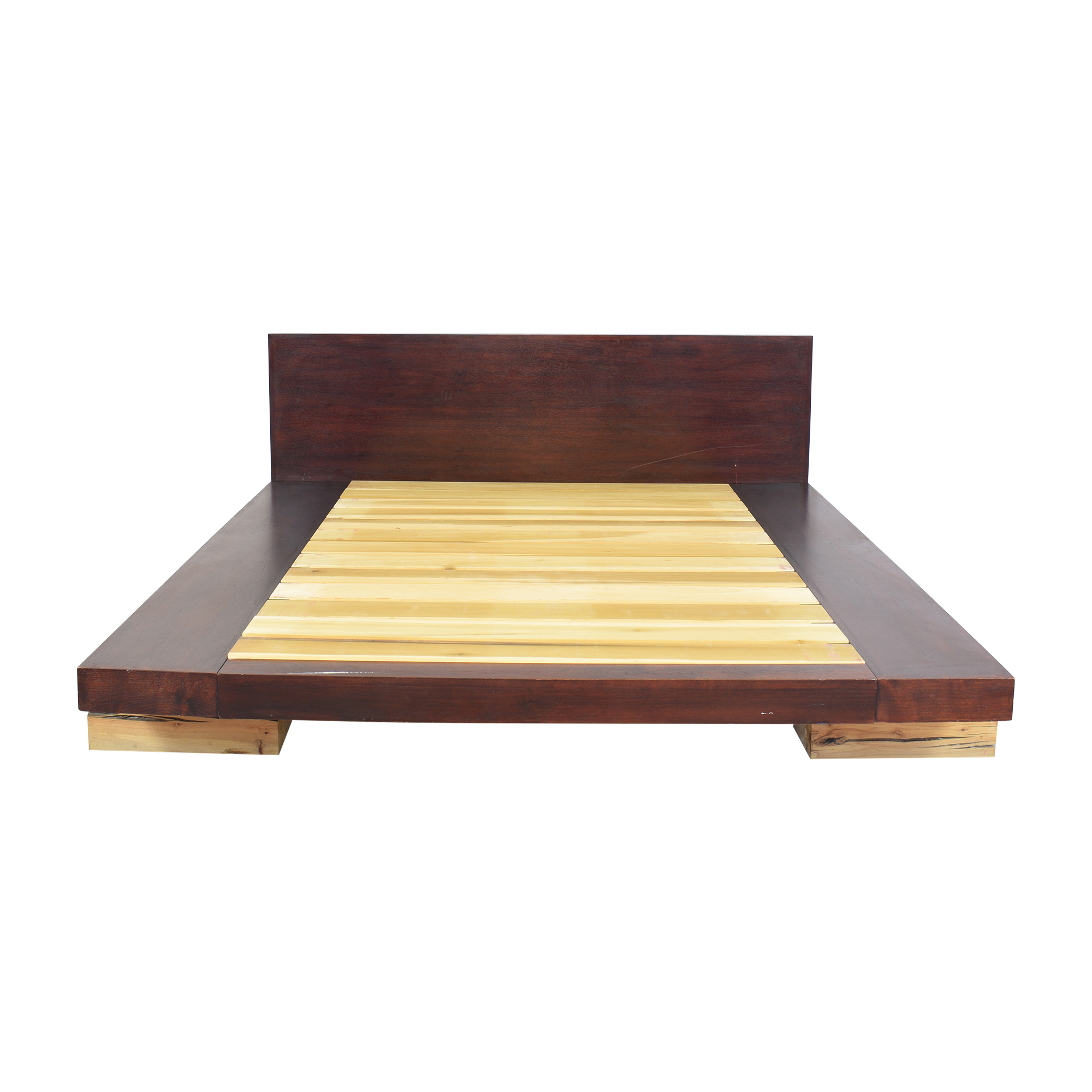 ABC Carpet & Home ABC Carpet & Home Railroad Tie Platform Bed Bed Frames