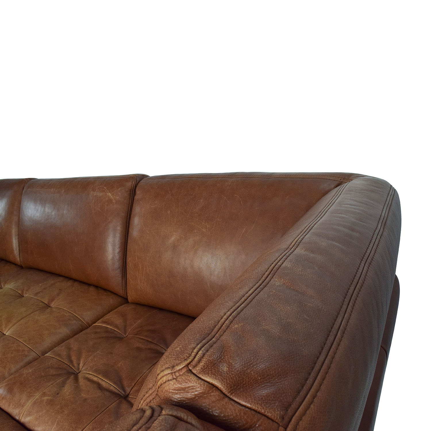 ... W.Schillig W. Schillig Leather Sectional And Ottoman Price ...