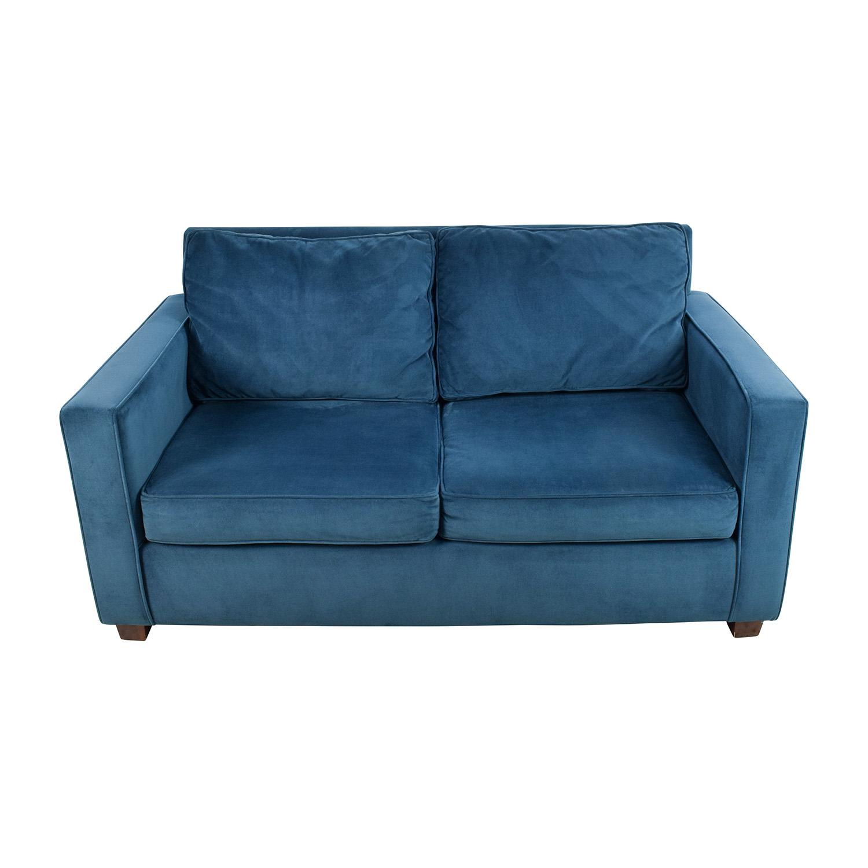 Wondrous 39 Off West Elm West Elm Celestial Blue Henry Loveseat Sofas Machost Co Dining Chair Design Ideas Machostcouk