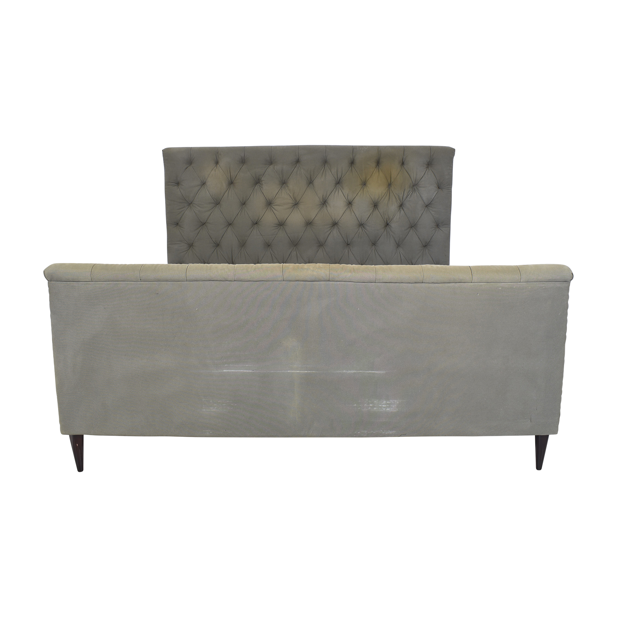 Restoration Hardware Restoration Hardware Chesterfield King Bed dark gray