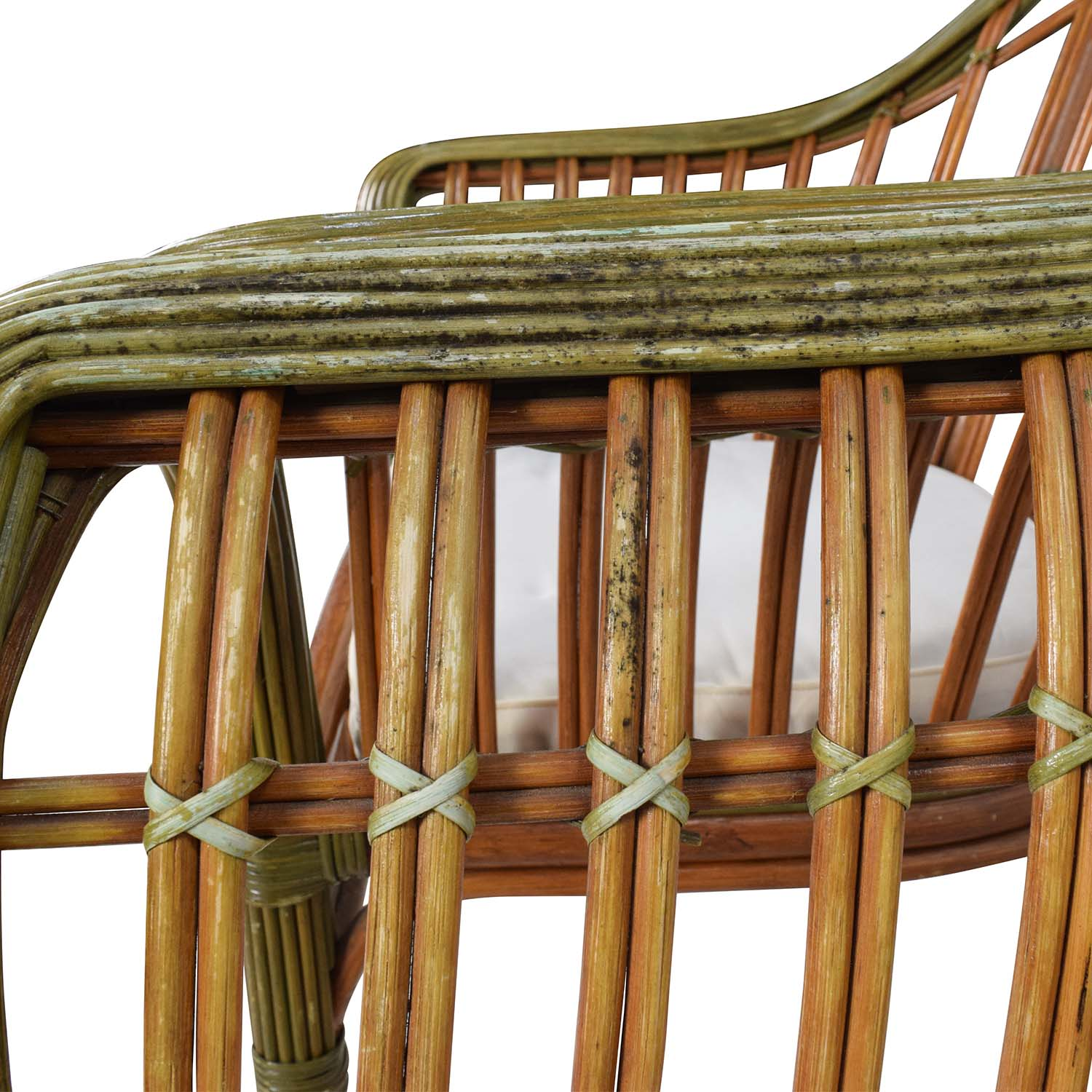 Pair Of Wicker Arm Chairs With Cushions Accent Chairs
