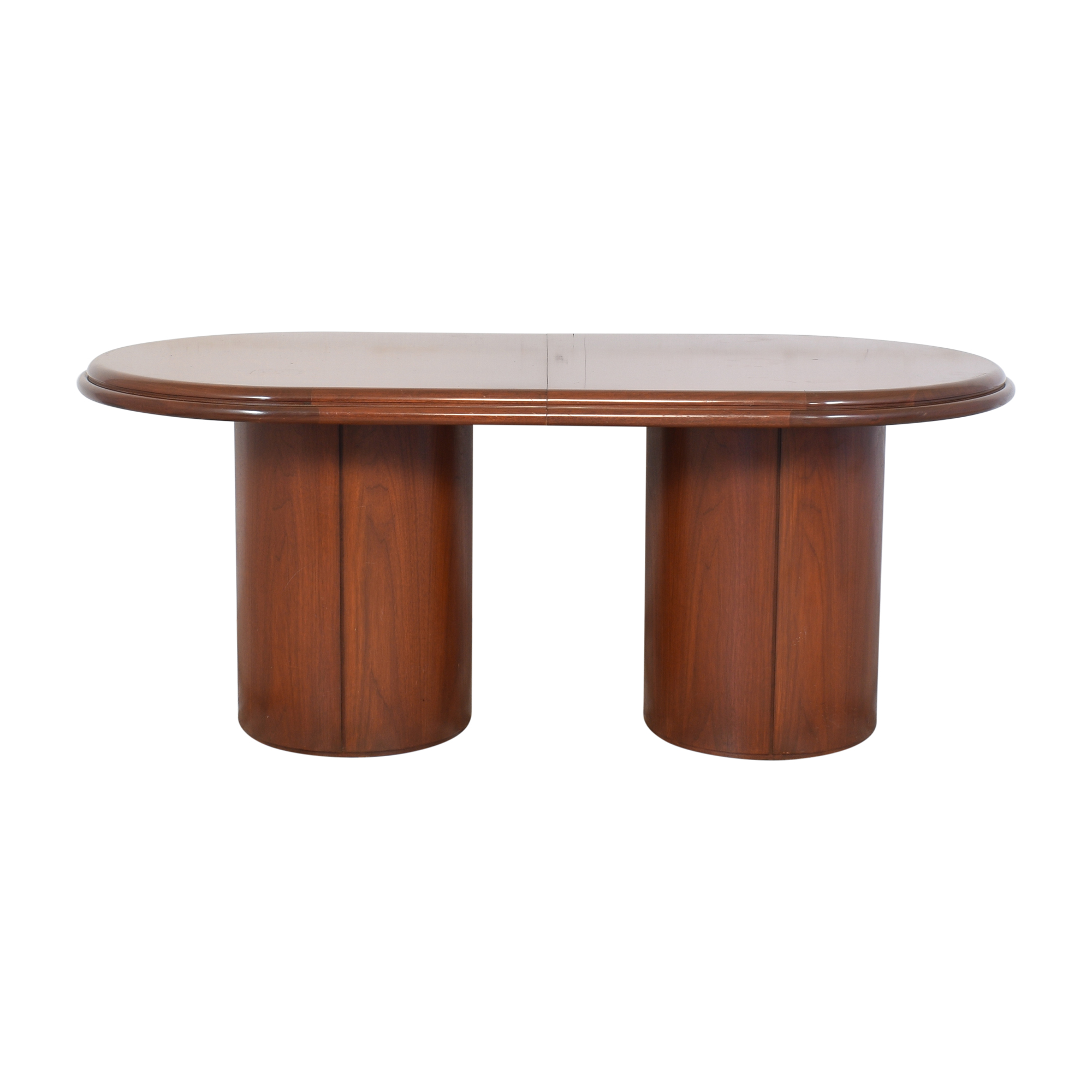 Double Column Base Extendable Dining Table used