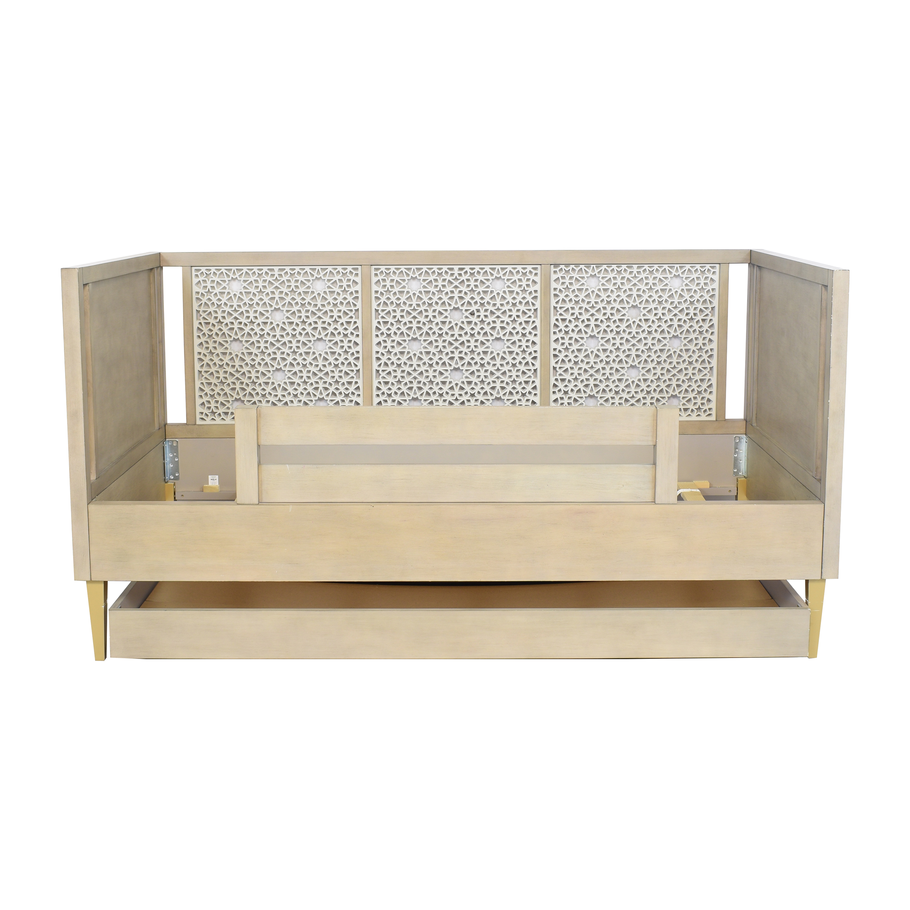 Land of Nod Land of Nod Genevieve Gorder Latticework Grey Daybed and Trundle for sale