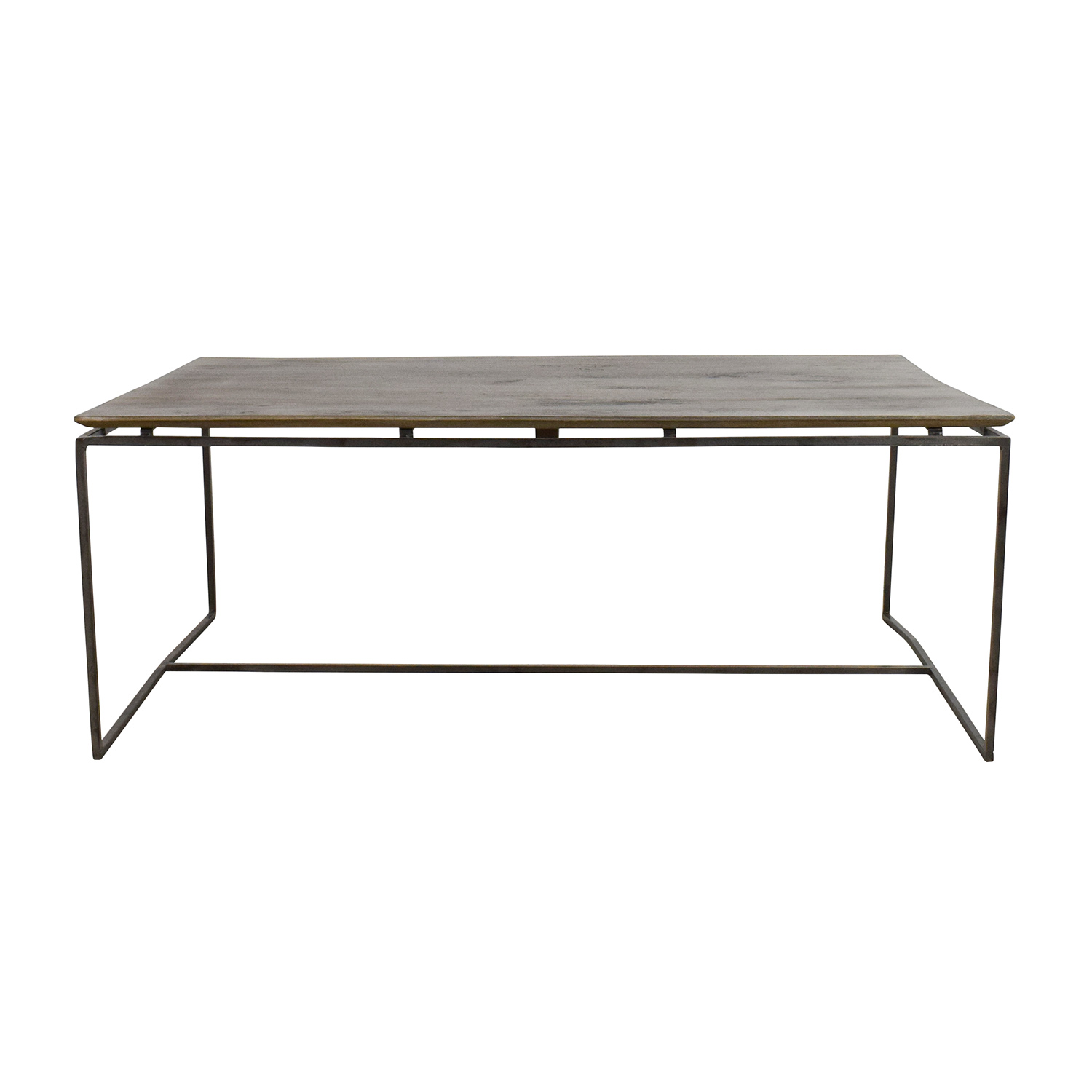 Nadeau Nadeau Wood and Iron Coffee Table used