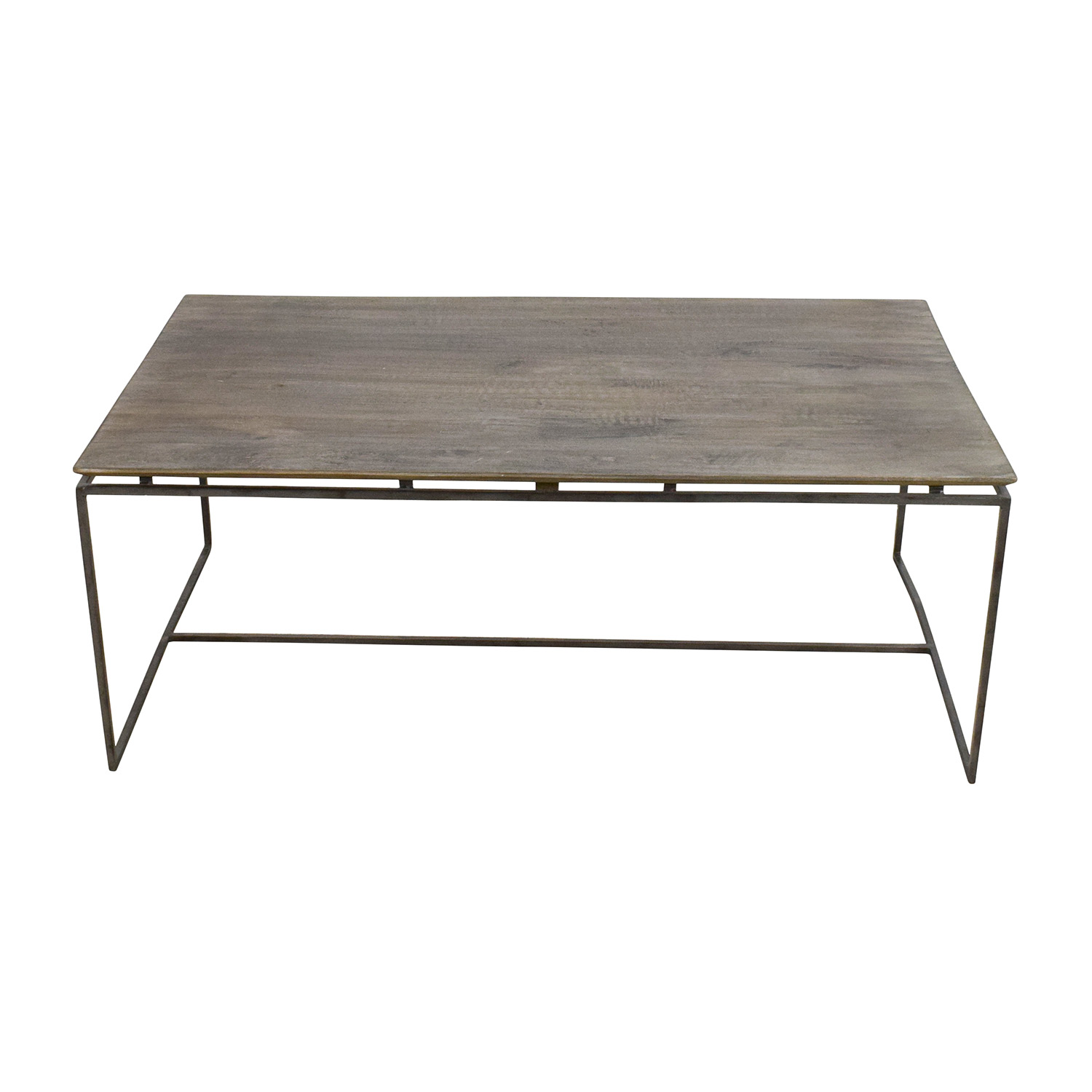 Nadeau Nadeau Wood and Iron Coffee Table