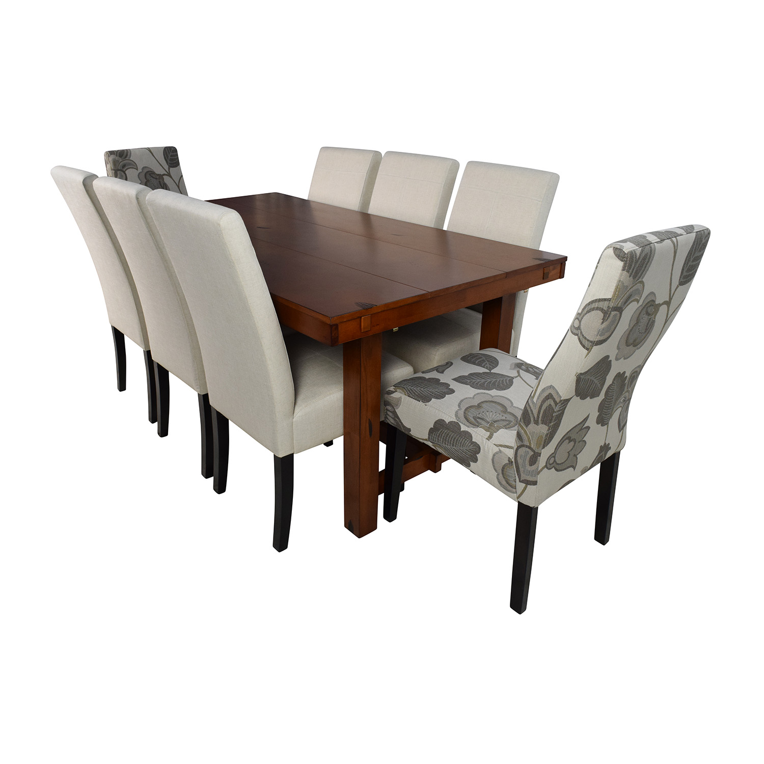 Walker Edison Huntsman Dining Table With Christopher Knight Chairs Sets