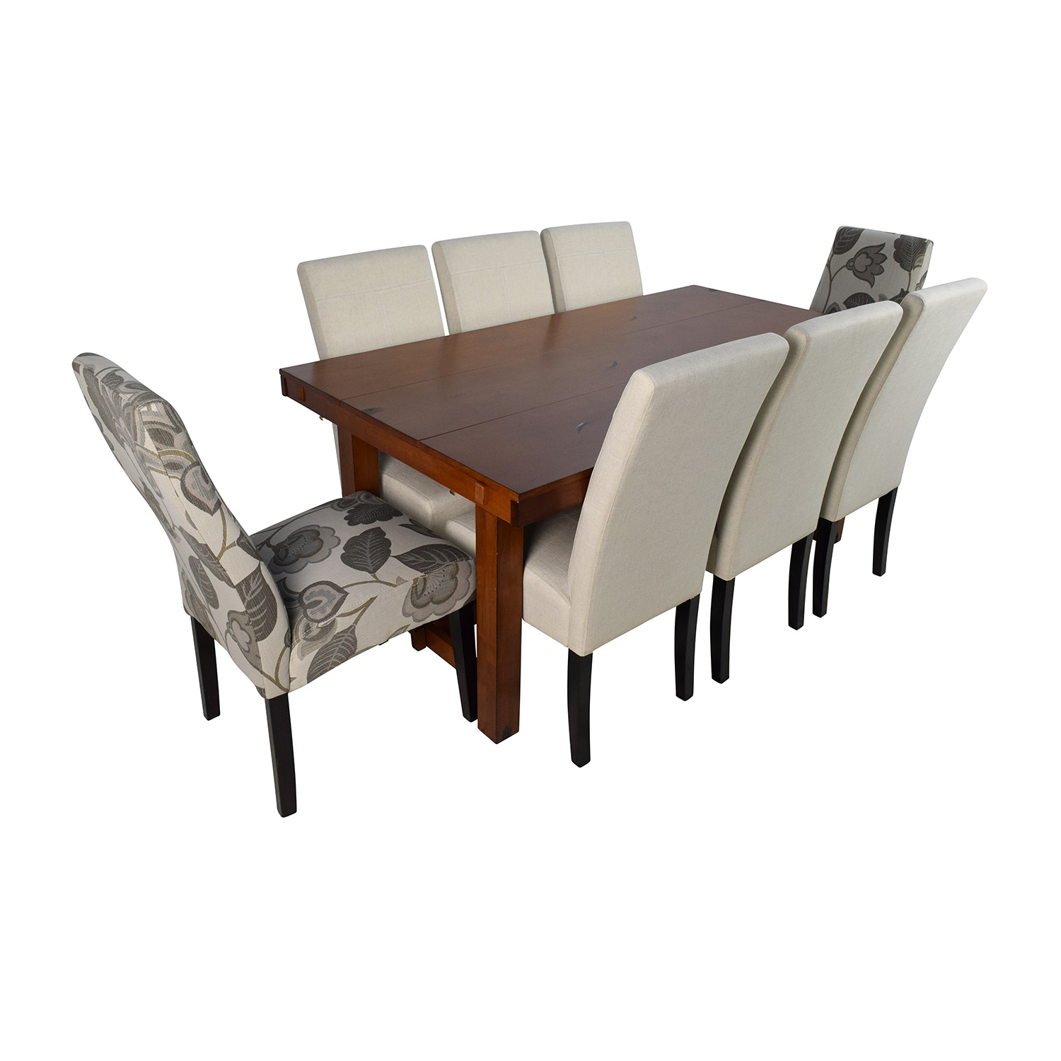 Walker Edison and Christopher Knight Walker Edison Huntsman Dining Table with Christopher Knight Chairs Brown/White Chairs