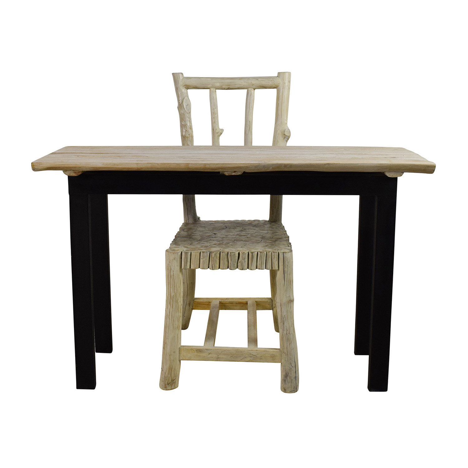 Nadeau Handcrafted Rustic Table and Chair sale