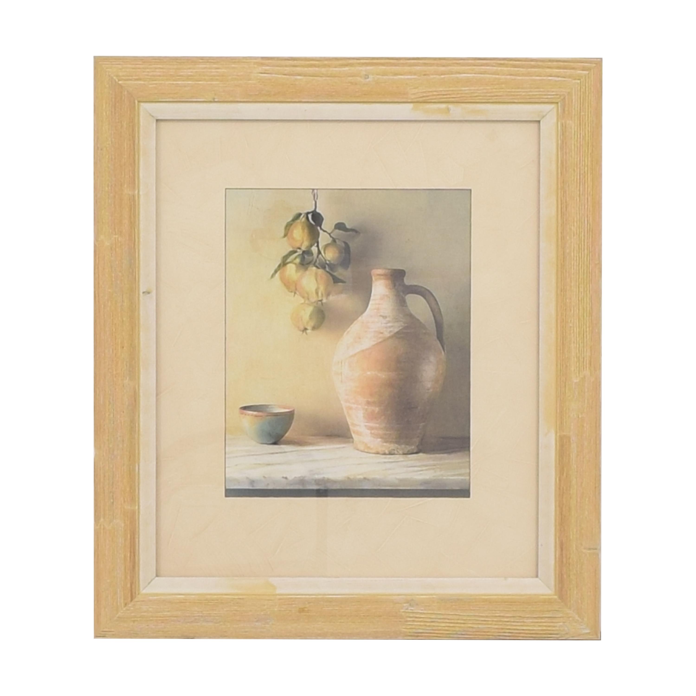 buy Ethan Allen Persimmons Framed Wall Art Ethan Allen