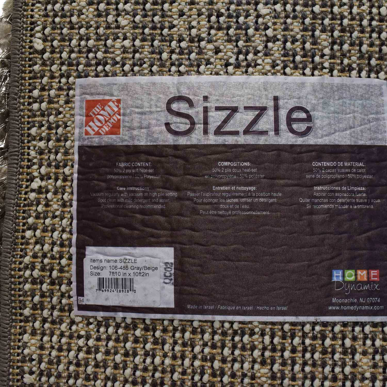 59% OFF - Home Depot Sizzle Beige Shag Carpet Large / Decor