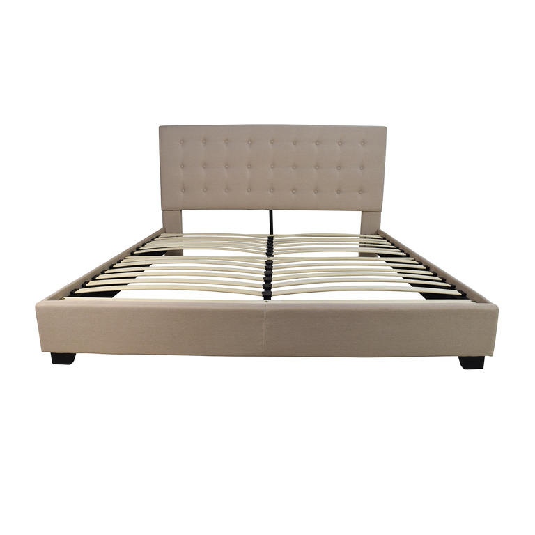 shop King Size Taupe Cloth Bed Frame